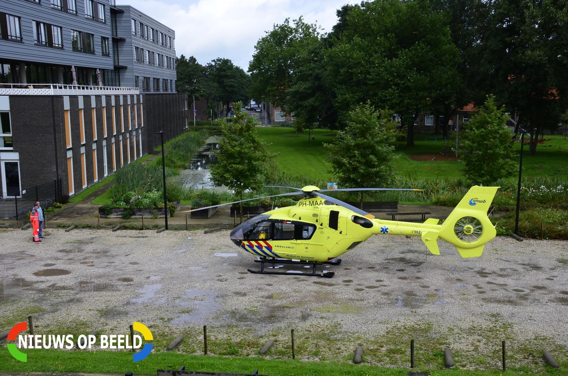 Traumahelikopter trekt bekijks bij inzet De la Reylaan Gouda
