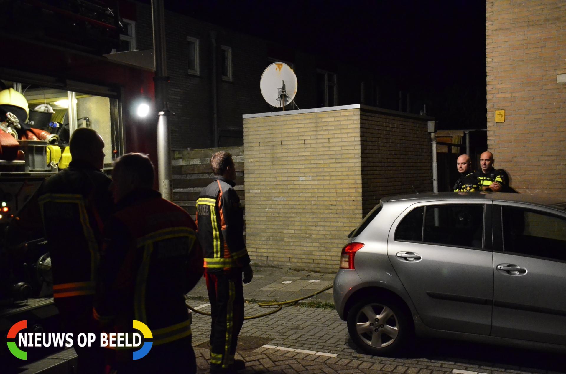 Korte maar felle brand in schuur Vorstmanstraat Gouda