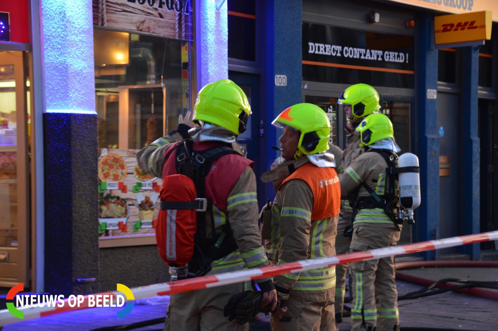 Brand in keuken Pizza Point Van Heusdenstraat Rotterdam