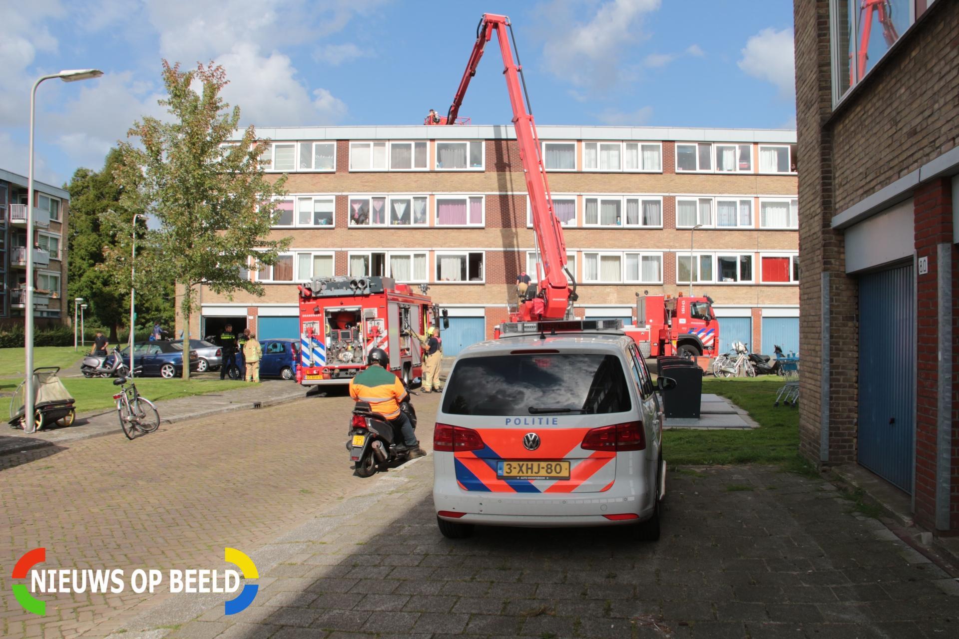 Bewoonster gewond bij keukenbrand Wiekslag Capelle aan den IJssel