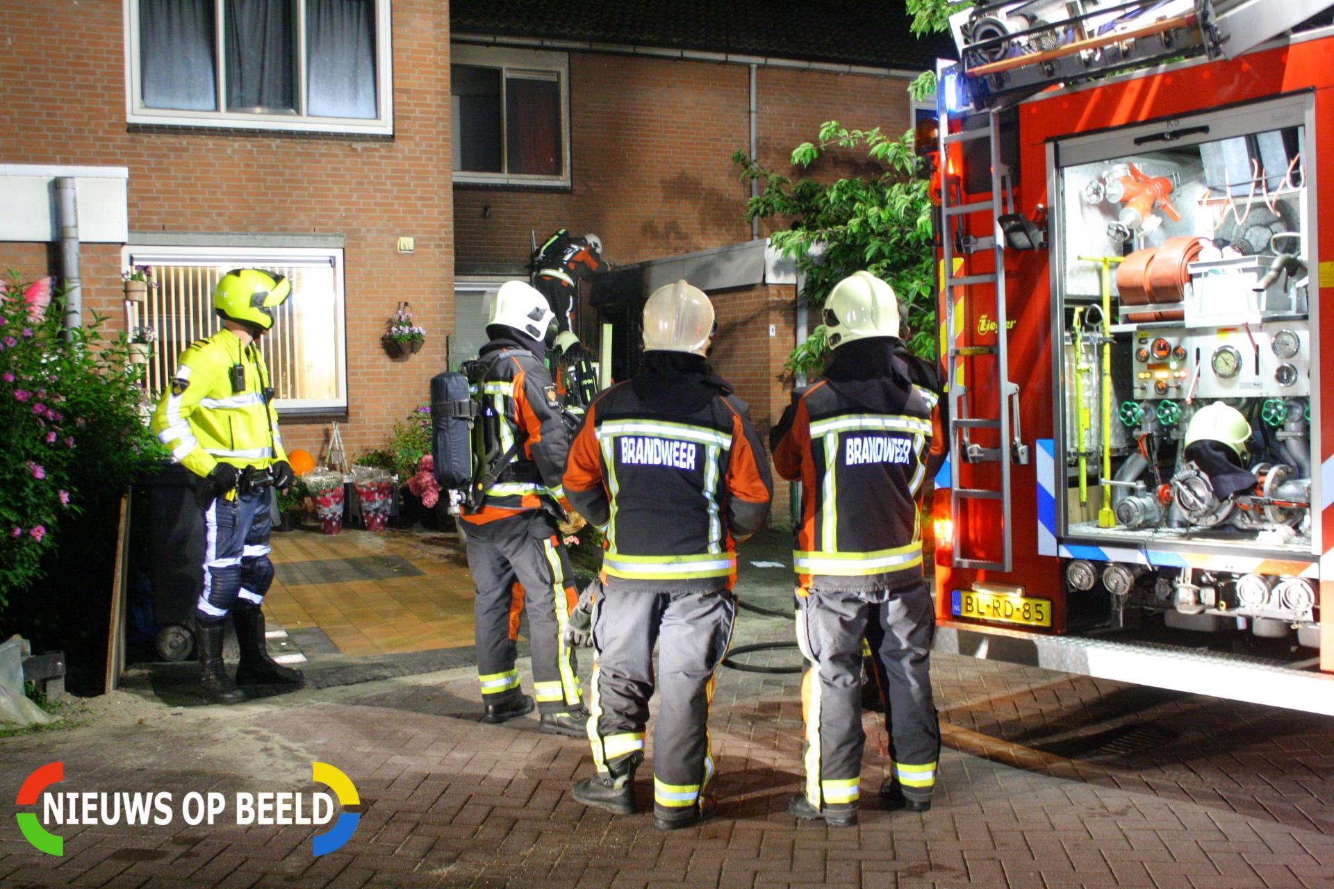 Aanhouding en fikse schade na woningbrand Gans Zoeterwoude