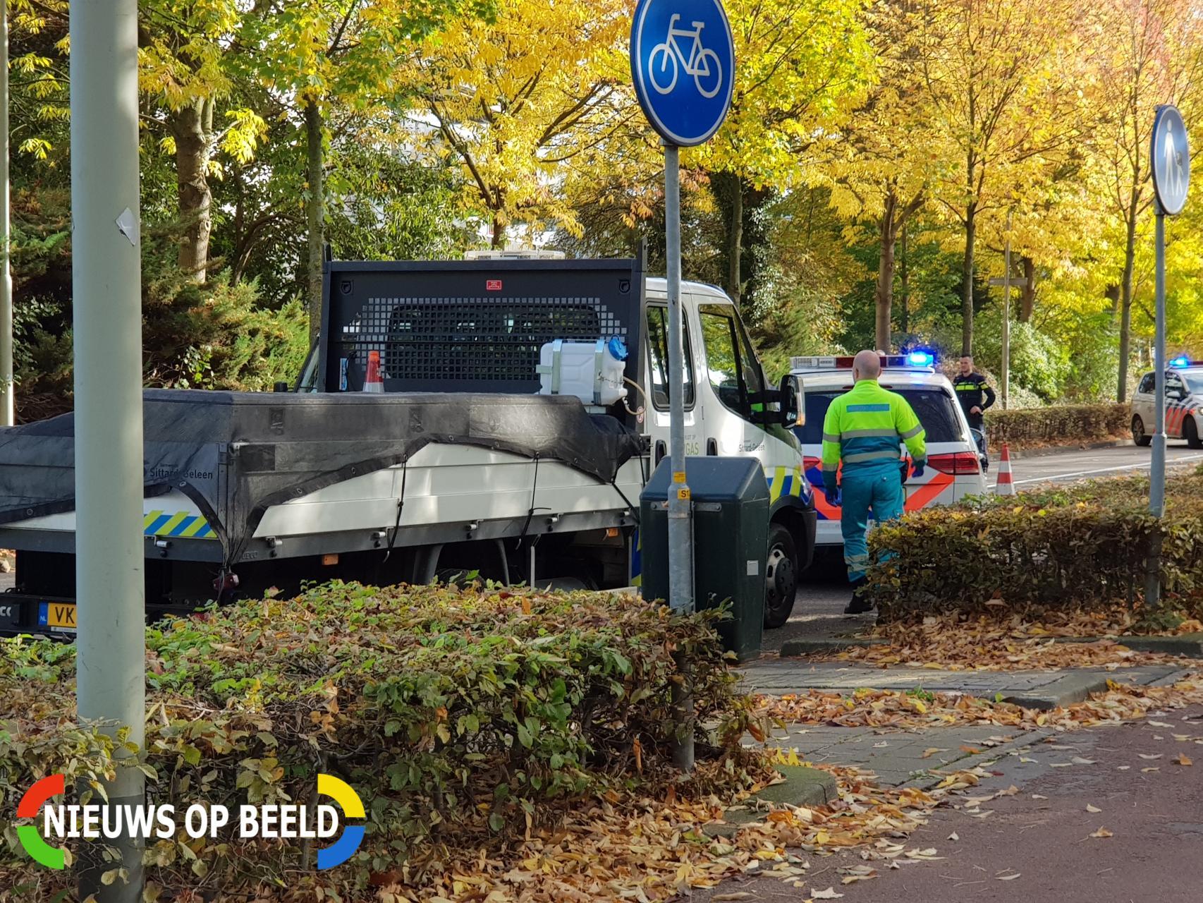 Automobiliste gewond na botsing met bestelwagen Limbrichterweg Sittard