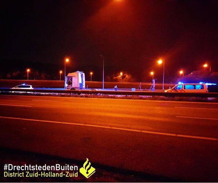 Bestuurder op A15 aangehouden met gestolen truck Alblasserdam