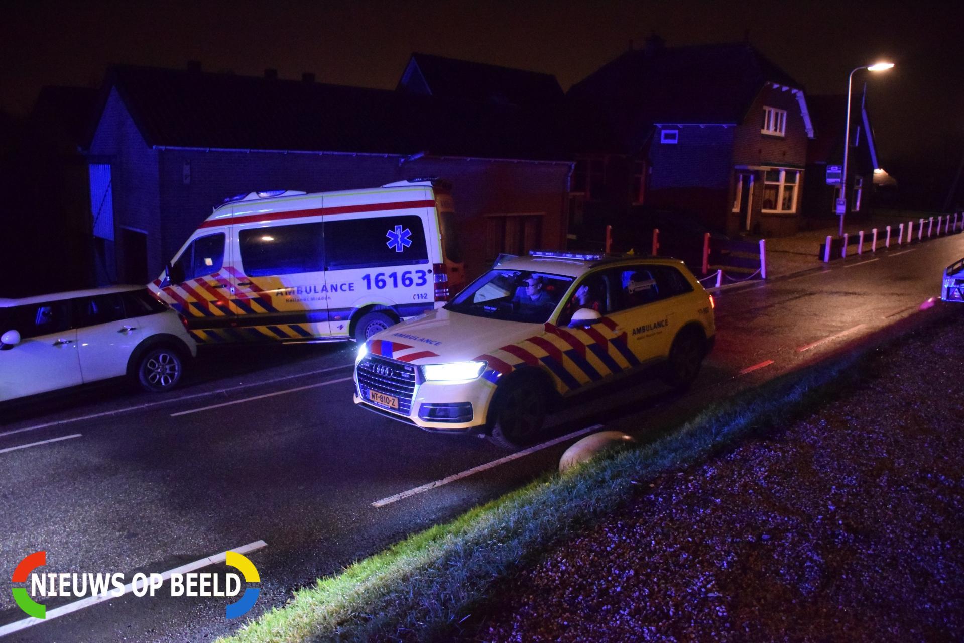 Fietser raakt ernstig gewond na val met fiets Middelburgseweg Reeuwijk