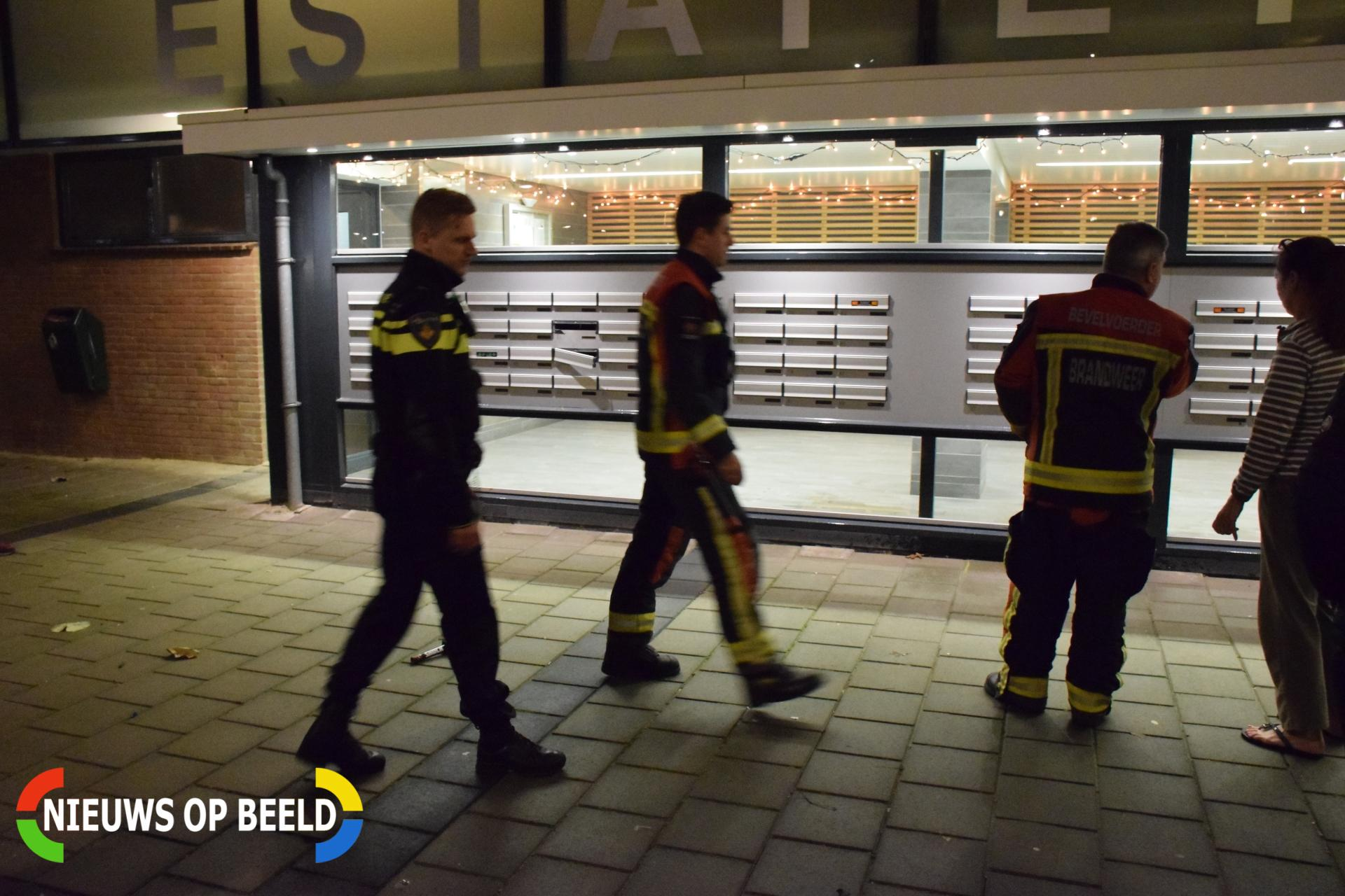 Brievenbussen van flat opgeblazen door vuurwerk Olympiadeplein Gouda