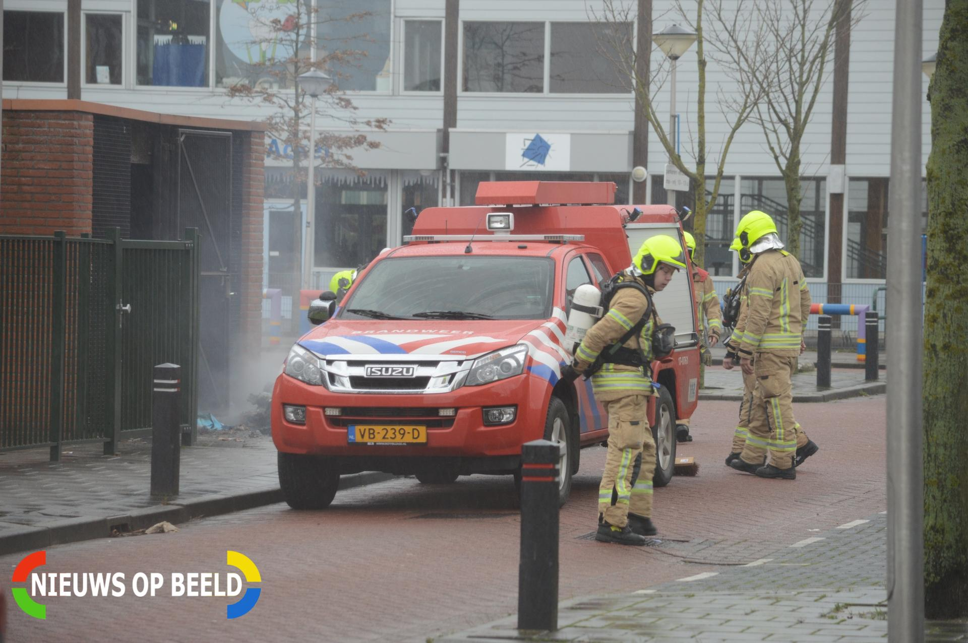 Brand in containerruimte Groeneweg Bergschenhoek