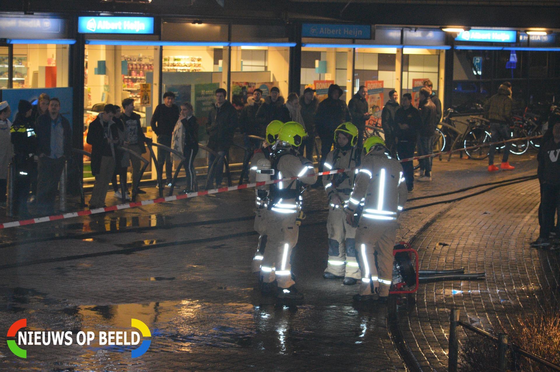 Forse schade in Albert Heijn door brand in wasdroger Westerwater Berkel en rodenrijs