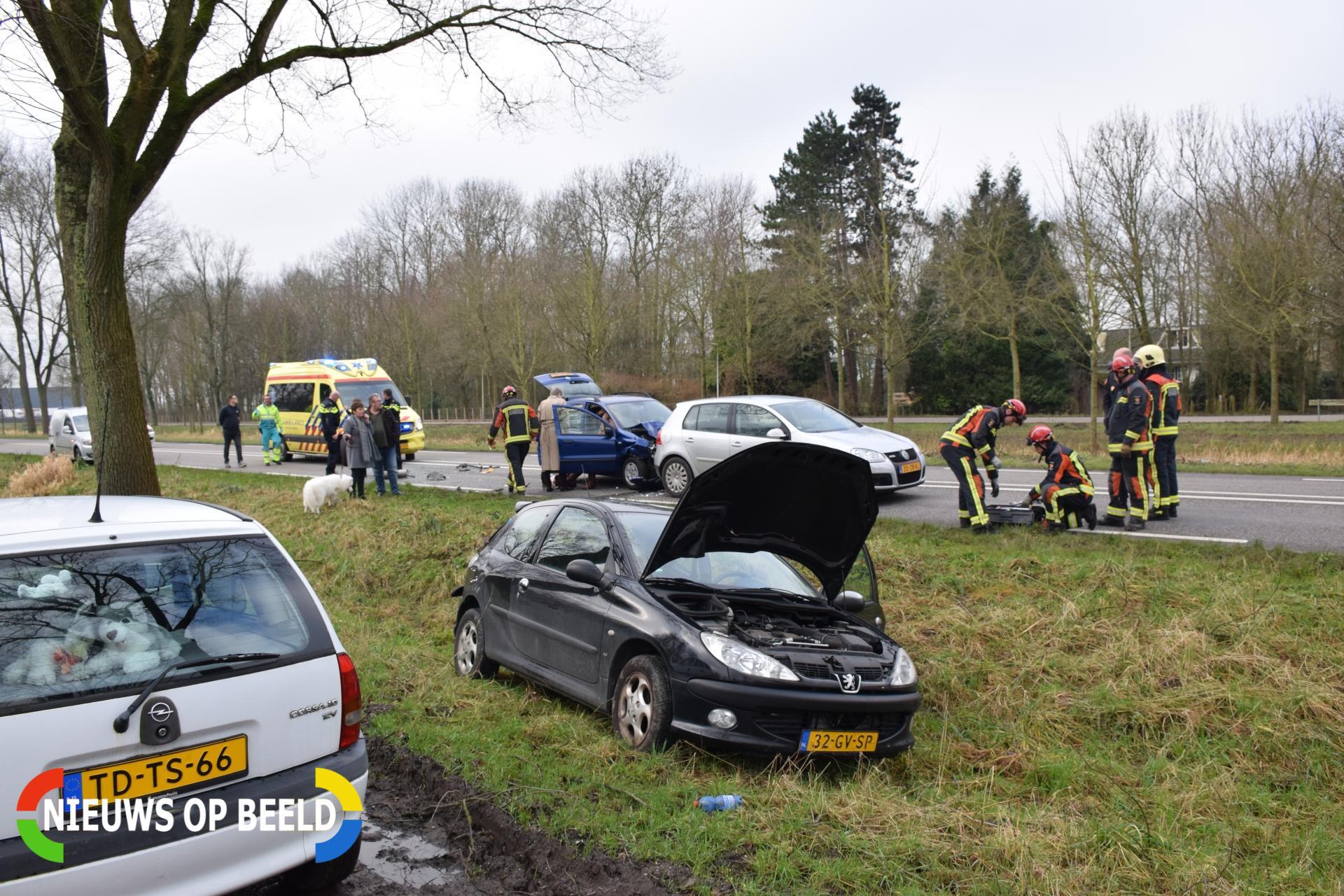 Flinke kop-staartbotsing bij wegwerkzaamheden Beijerincklaan – N453 Waddinxveen