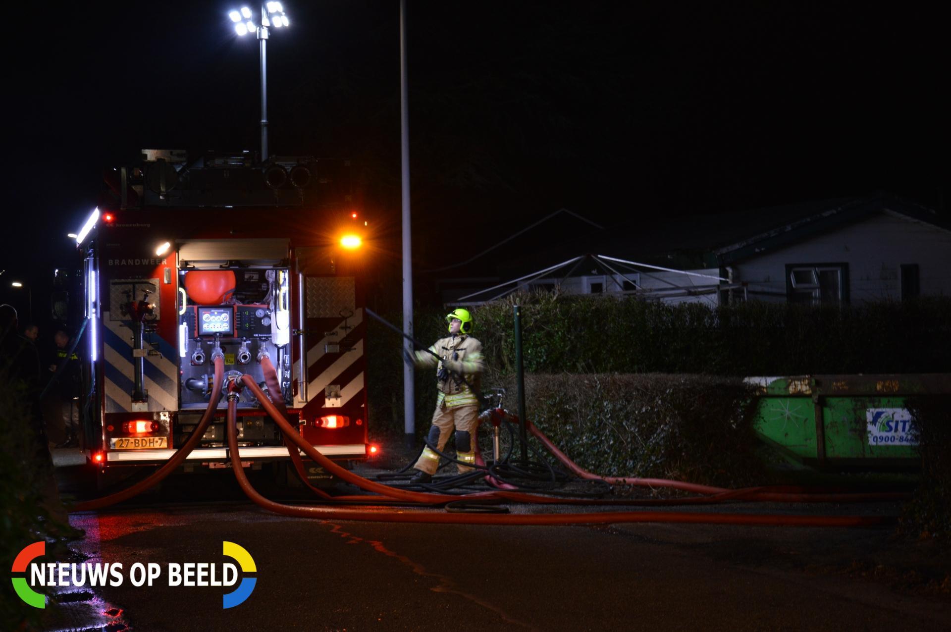 Wederom vakantiehuisje afgebrand camping Kruinigergors Gorsplein Oostvoorne