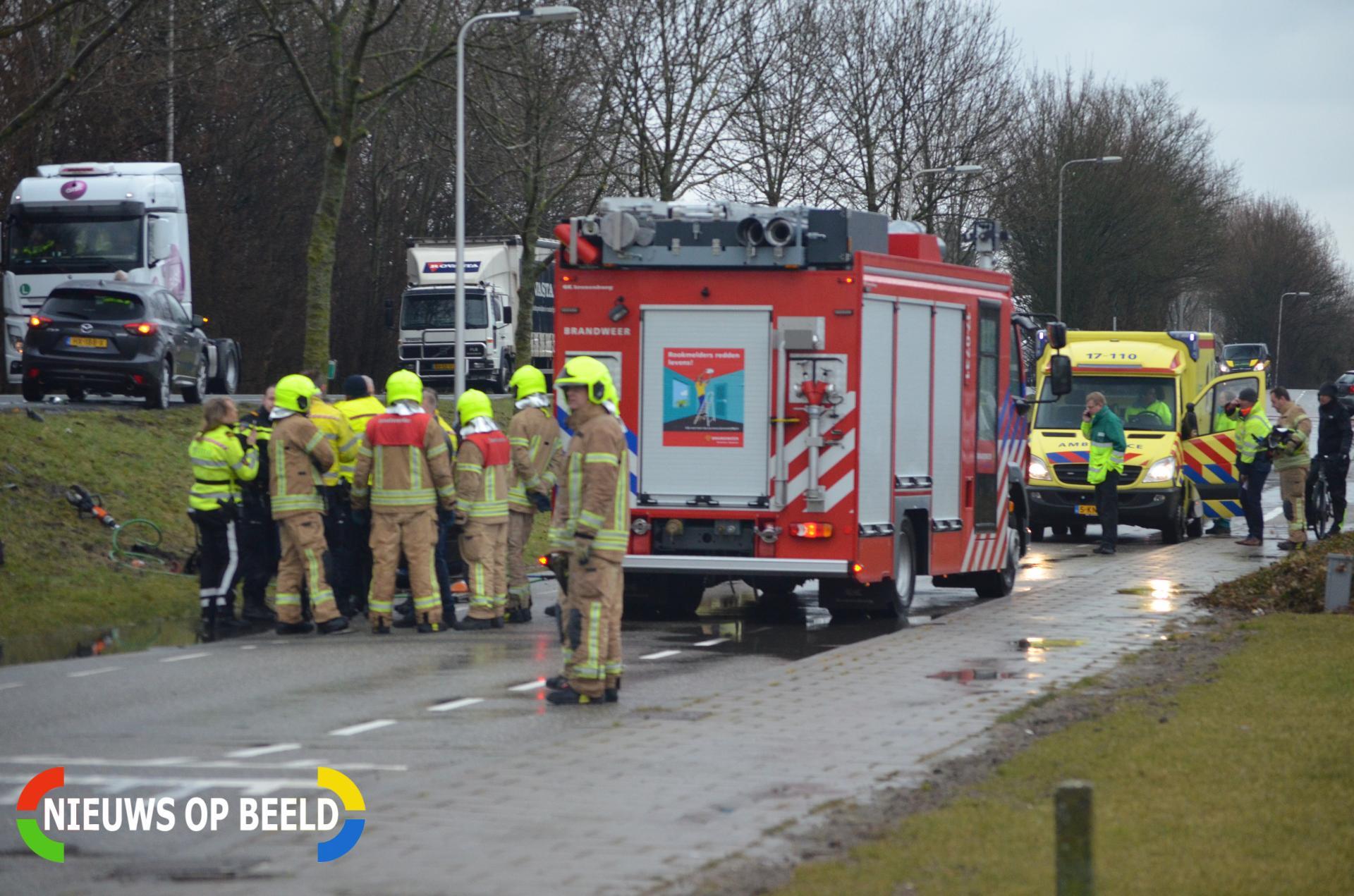 Bestuurder overleden na ongeval met vrachtwagen Leeuwenakkerweg Bergschenhoek