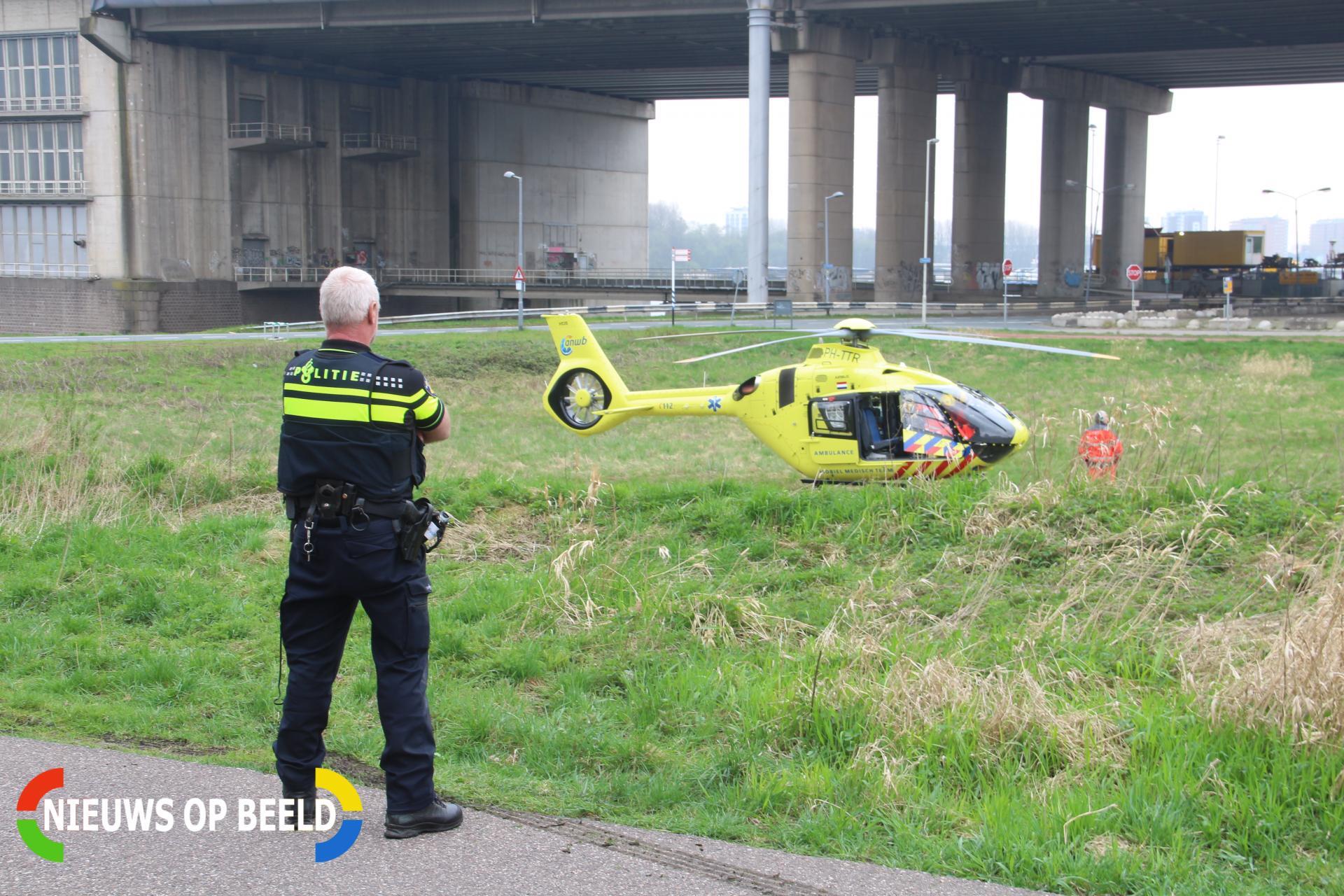 Vrouw gewond na valpartij op fietspad van Brienenoordbrug Rotterdam