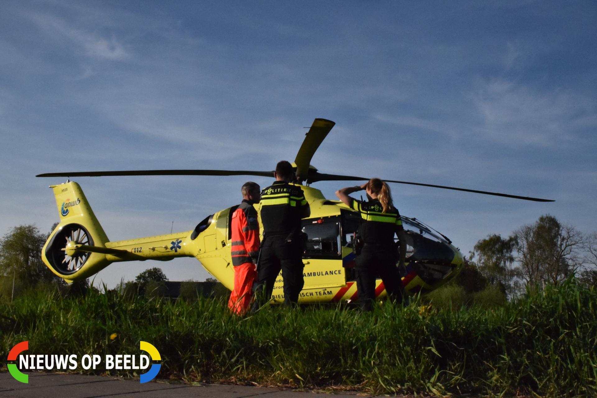 Traumahelikopter opgeroepen voor medische noodsituatie Ieplaan Waddinxveen