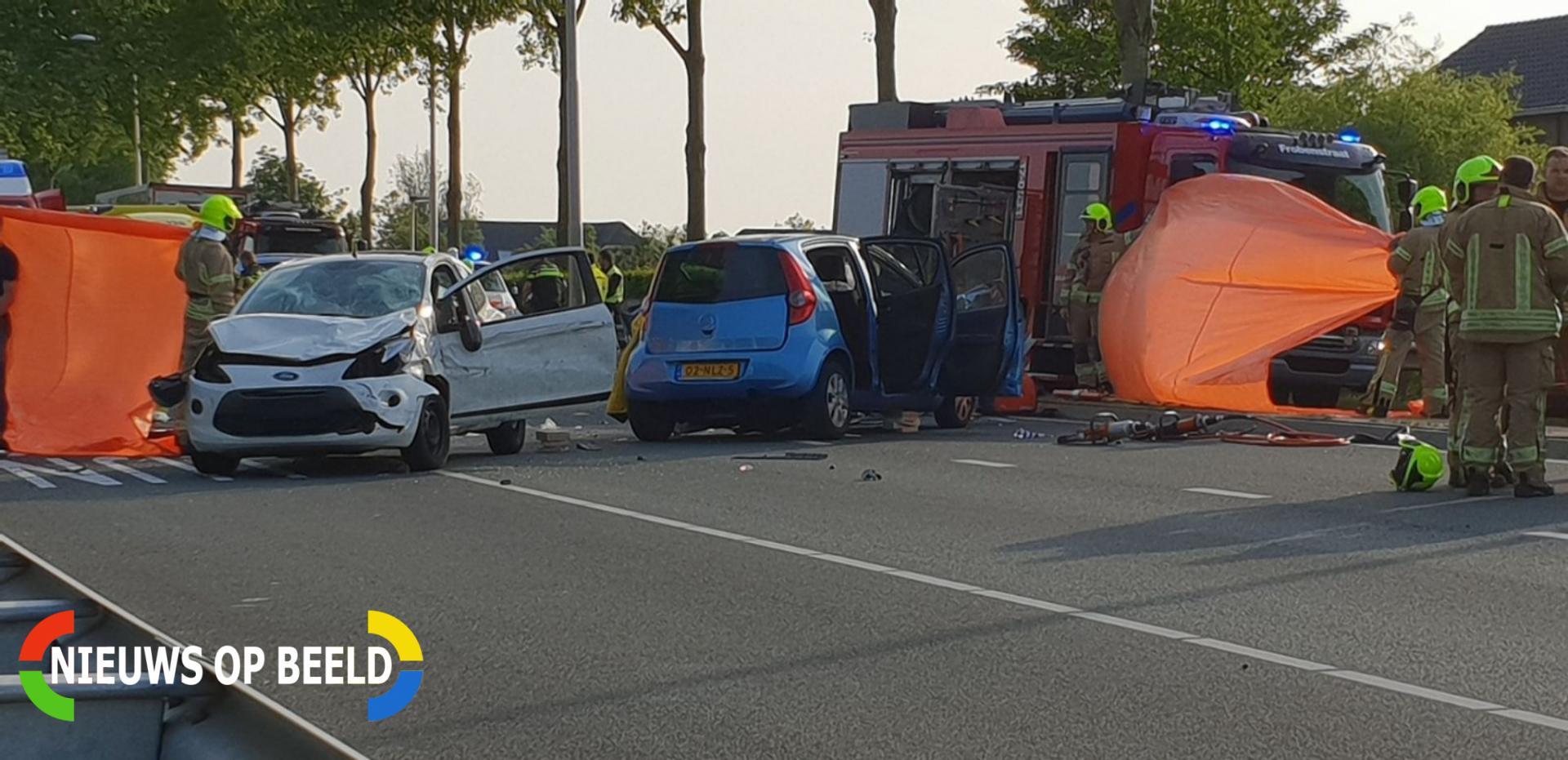 Dode en drie gewonden bij zeer ernstig verkeersongeval Leeuwenakkerweg N209 Bergschenhoek