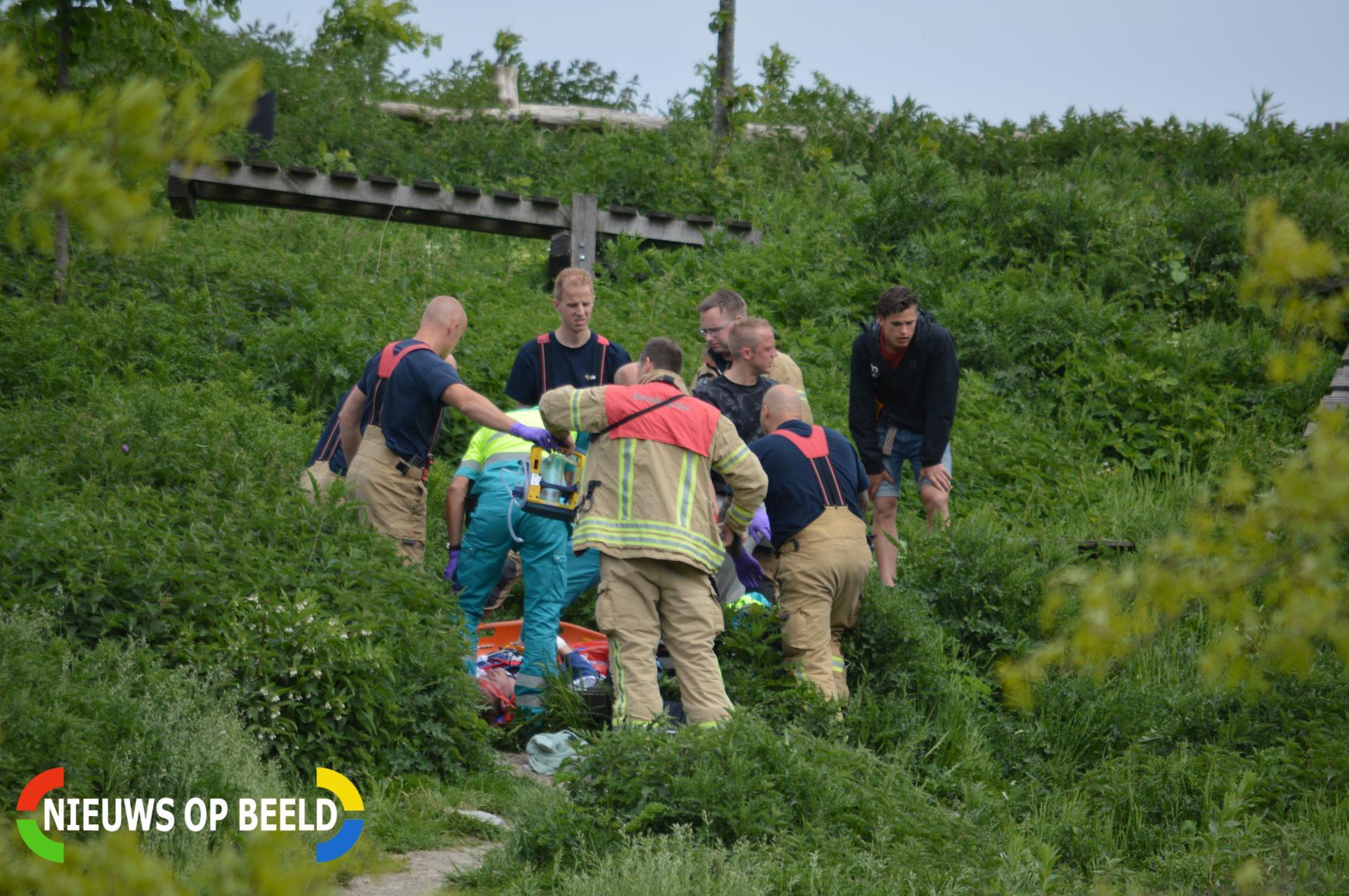 Jongen van klimberg gered Hoeksekade Bergschenhoek