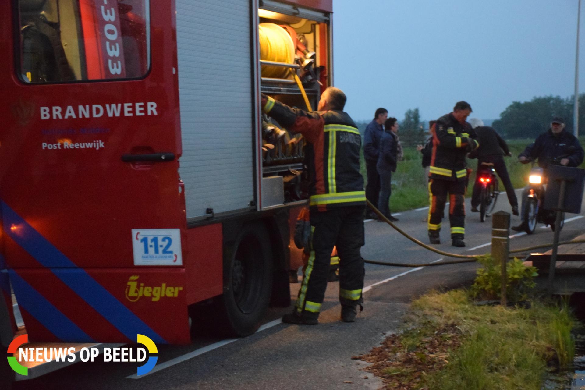 Melding gaslucht blijkt veroorzaakt door losgeschoten koppeling Middelburgseweg Boskoop