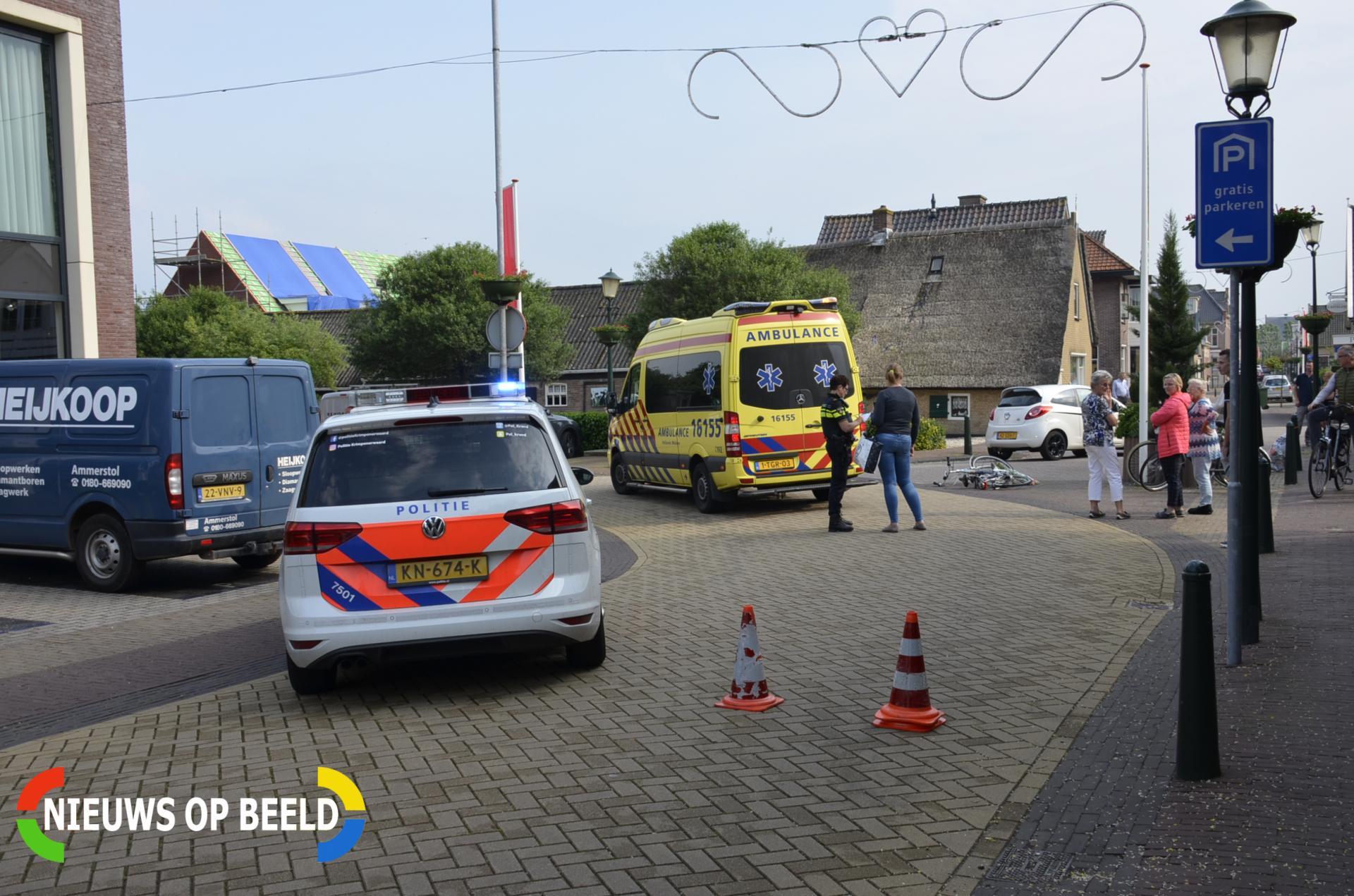 Fietser gewond na aanrijding met auto Hoofdstraat Bergambacht