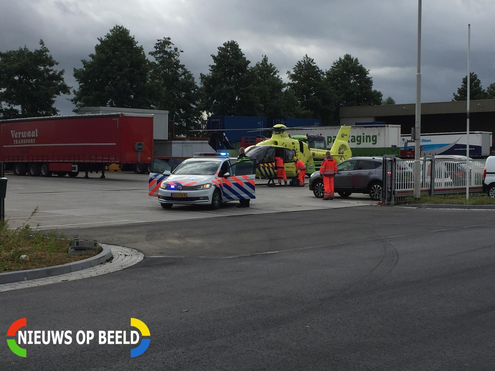 Man overleden bij bedrijfsongeval Nijverheidsweg Stolwijk