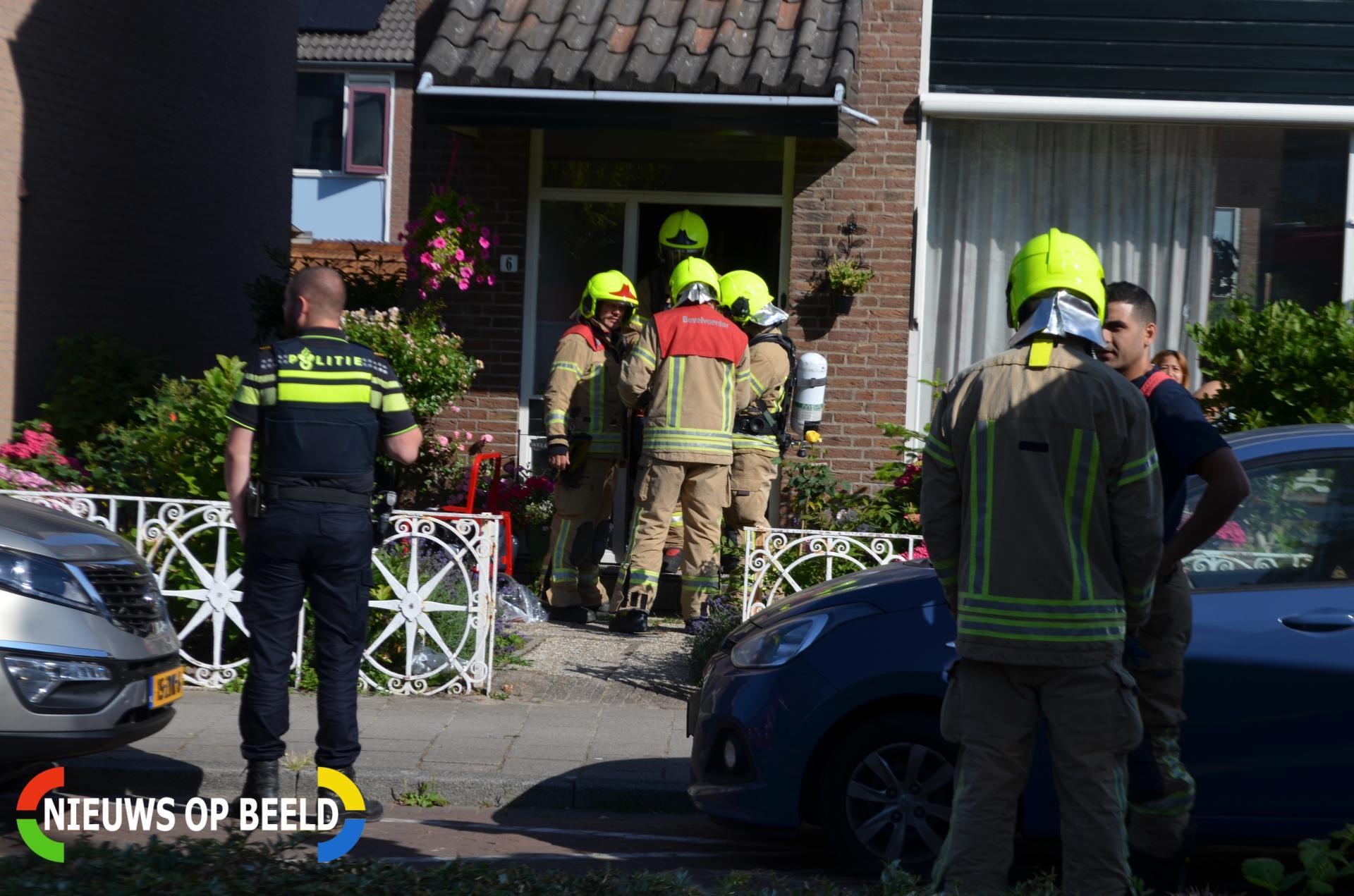 Klein brandje in woning Smitshoek Bergschenhoek