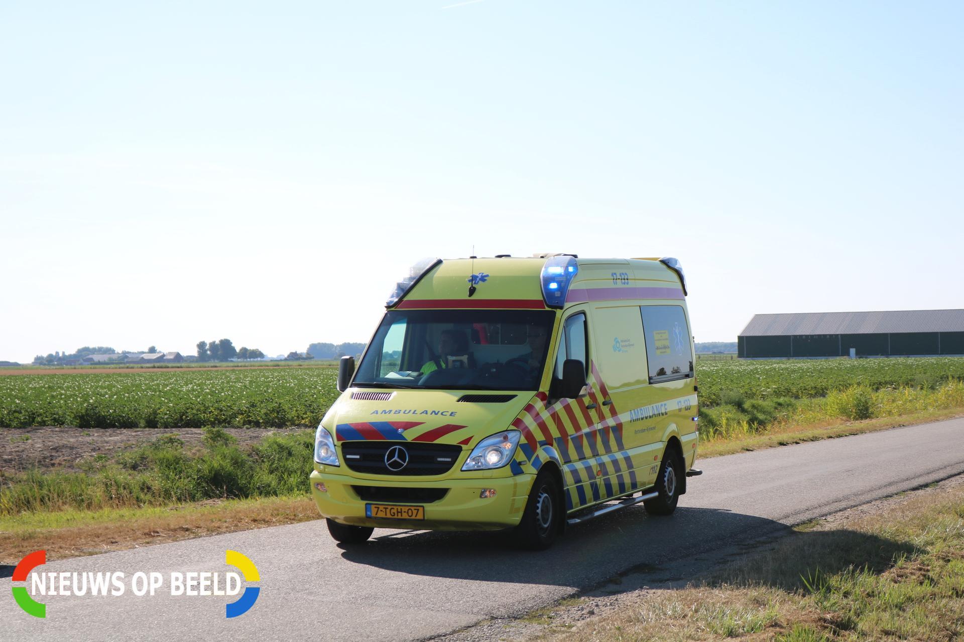 Vrouw gewond bij aanrijding Dwarsweg Zuidland