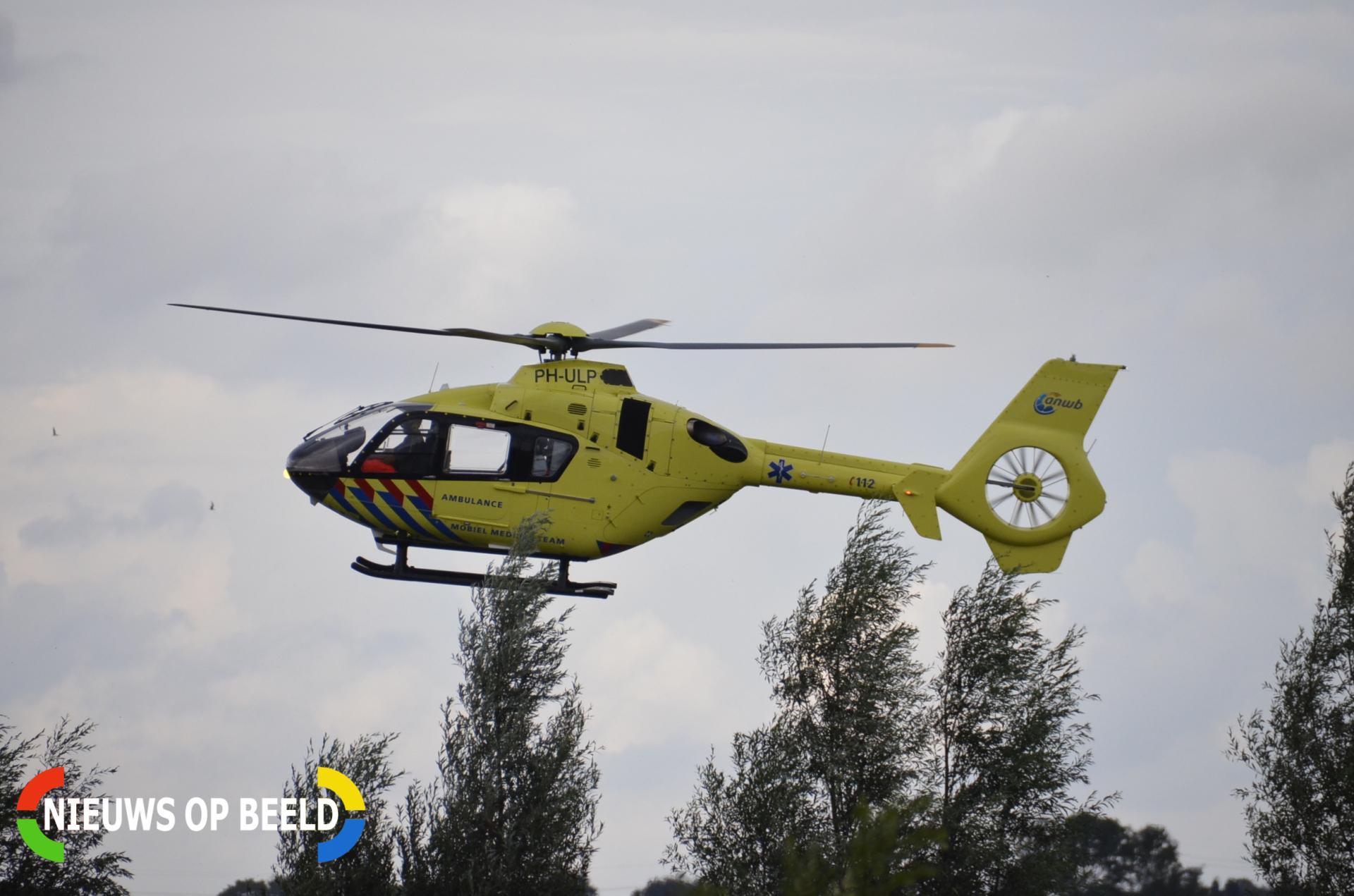 Traumahelikopter ingezet op camping nadat kind van speeltoestel valt Bovenkerkseweg Stolwijk