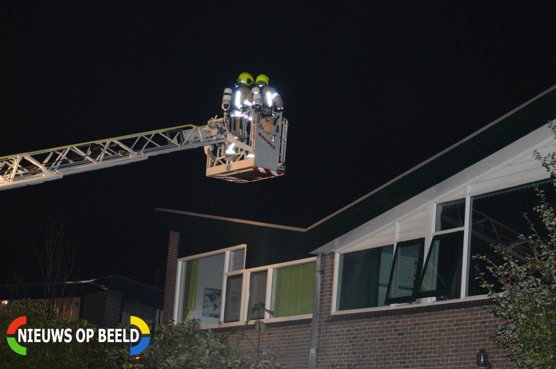 Brandweer stelt onderzoek in na melding schoorsteenbrand Dennenhorst Bergschenhoek