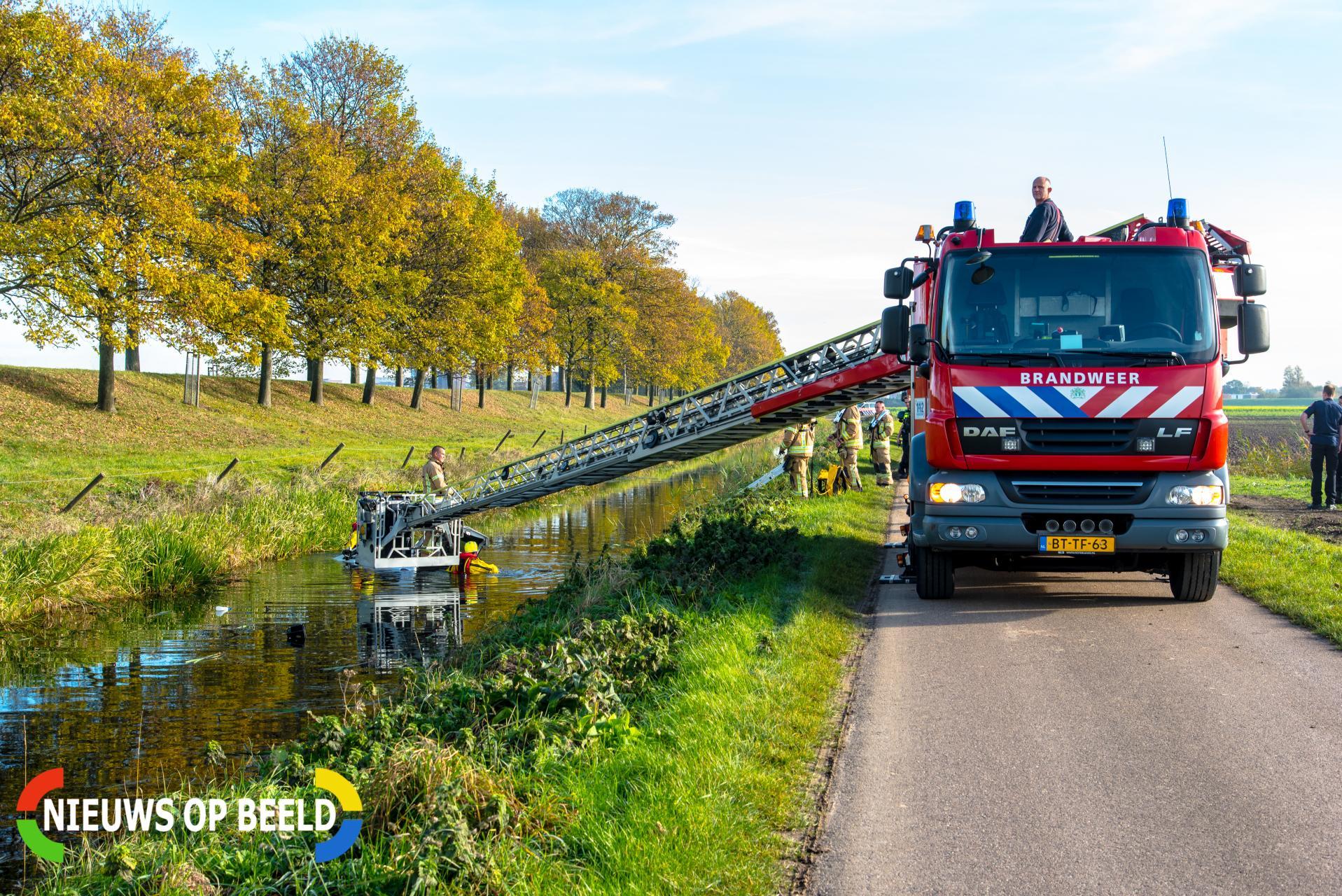Inzittenden te water geraakte auto gevlucht Molenpolderse Zeedijk Rhoon