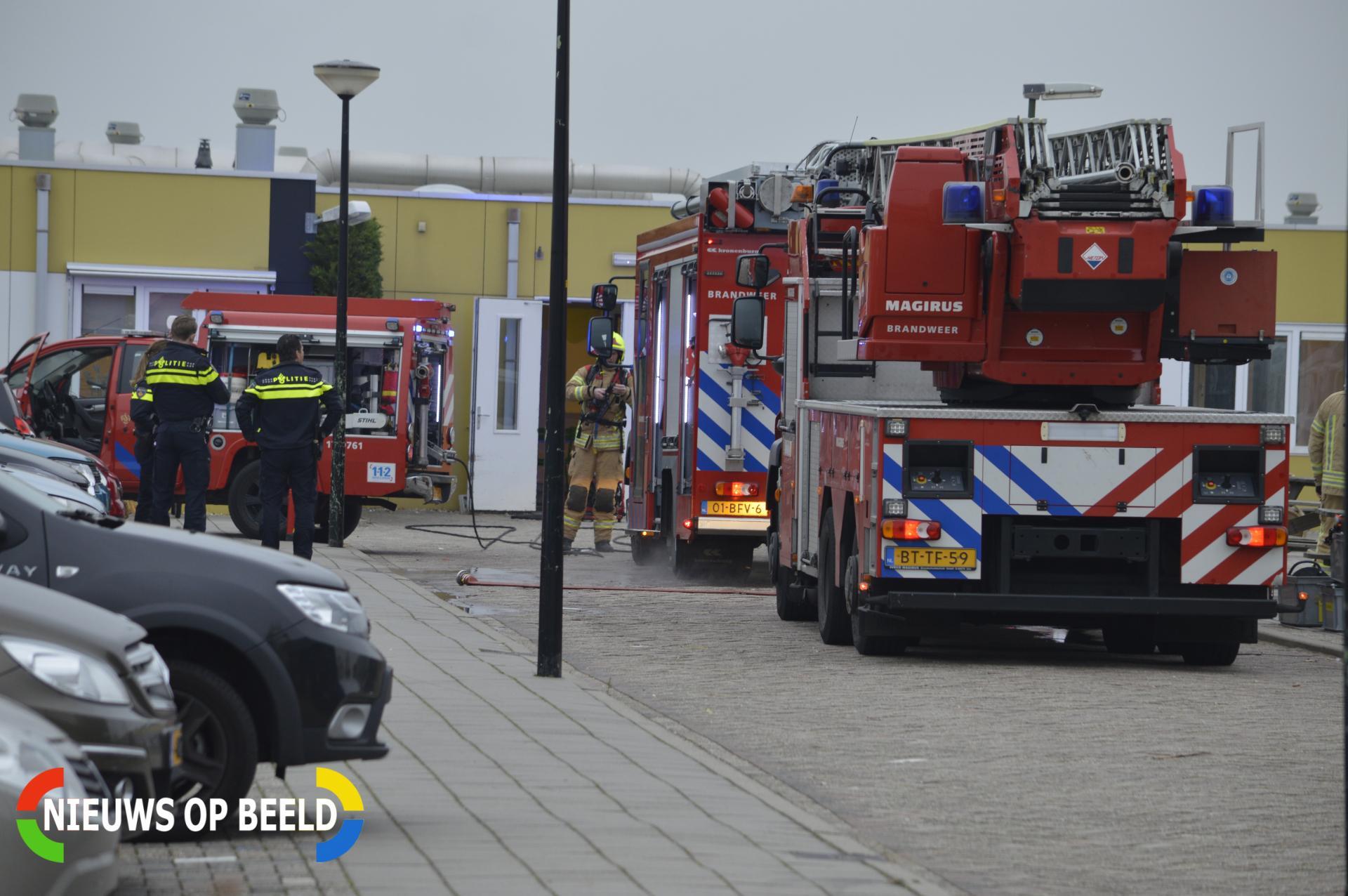 School ontruimd na brand Boterdorpseweg Bergschenhoek