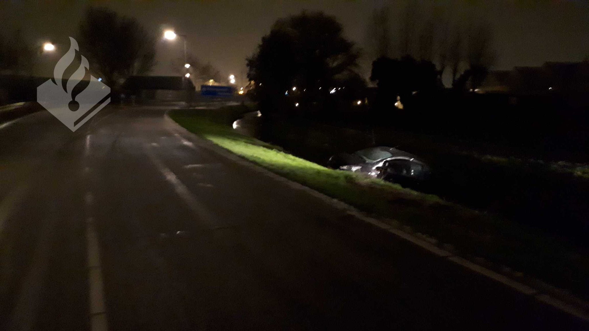Auto in de sloot Haakweg Hoek vam Holland