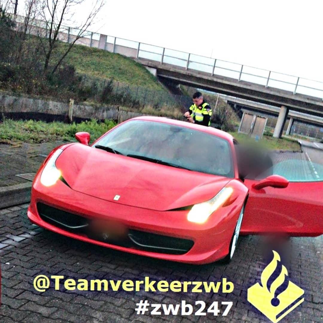 Bestuurder van Ferrari moet rijbewijs inleveren
