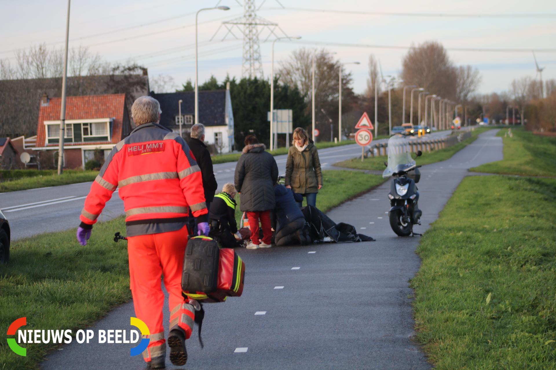 Fietser zwaargewond na botsing tegen hond Gemeenlandsedijk Zuid Abbenbroek