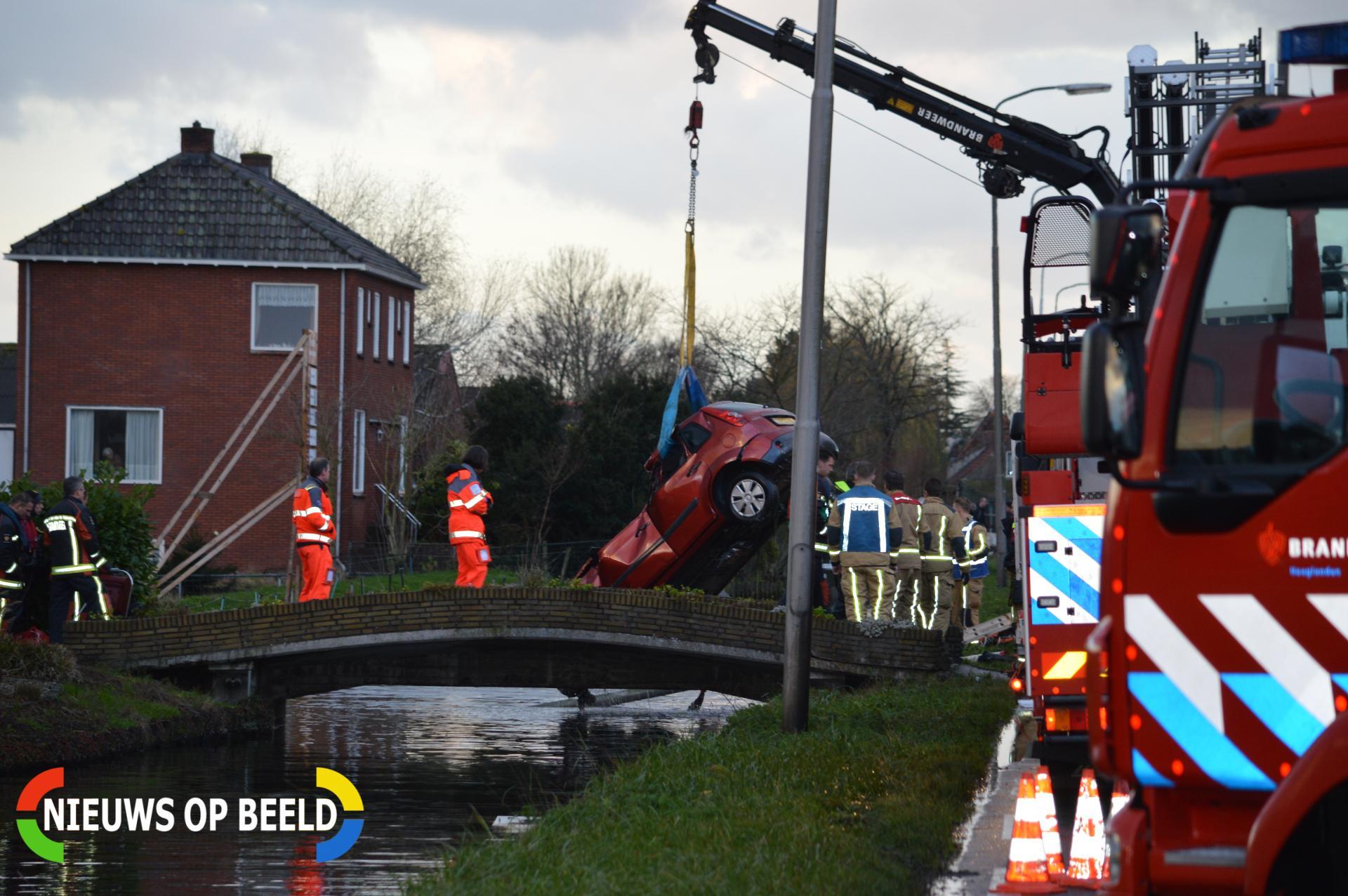 Dode na auto te water Katwijkerlaan Pijnacker