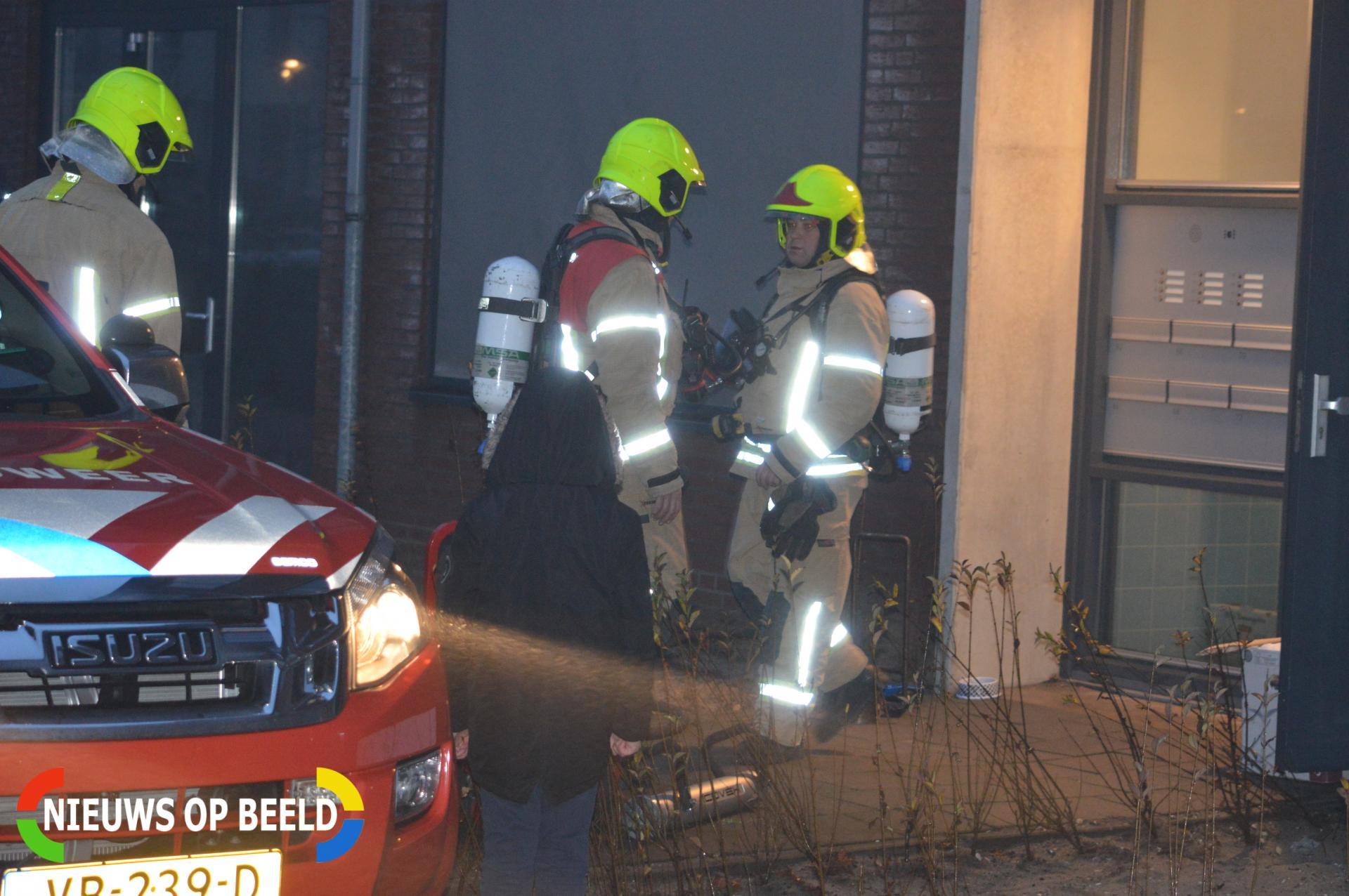 Woning geventileerd na brand Sybold van Ravesteynpad Bergschenhoek