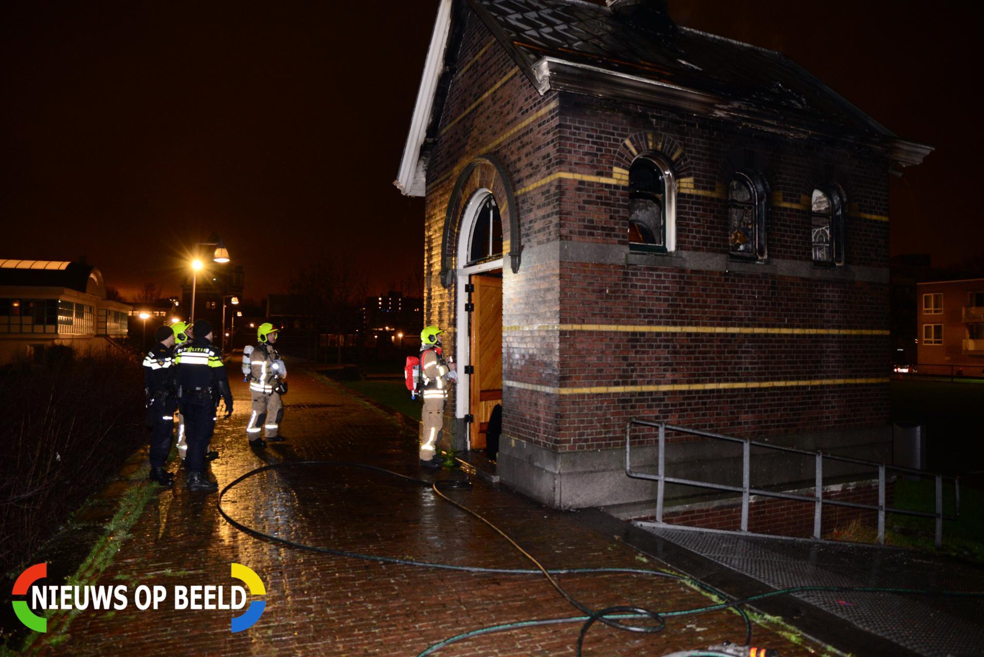 Historisch gebouw in brand gestoken Snelfilterpad Rotterdam