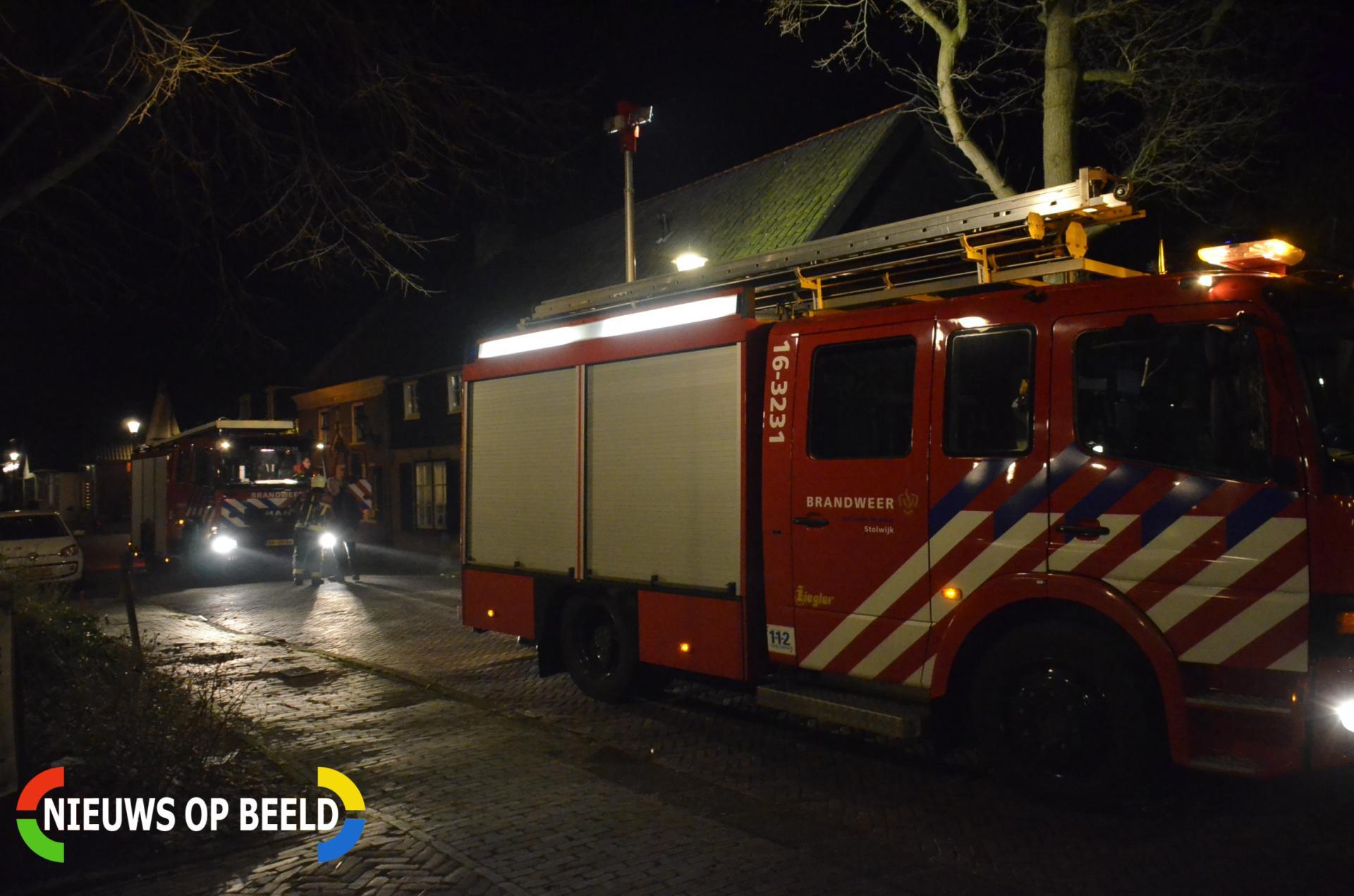 Brand in schuur Dorpsstraat Berkenwoude