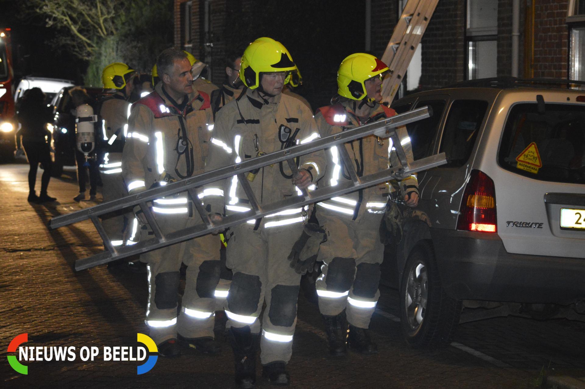 Schoorsteen geveegd na brand Bonfut Berkel en Rodenrijs