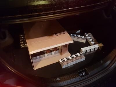 Illegale sigaretten in kofferbak