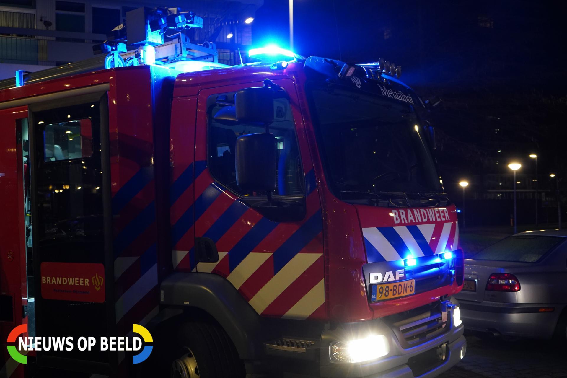Grote brand in schuur Polderhaakweg Hoek van Holland
