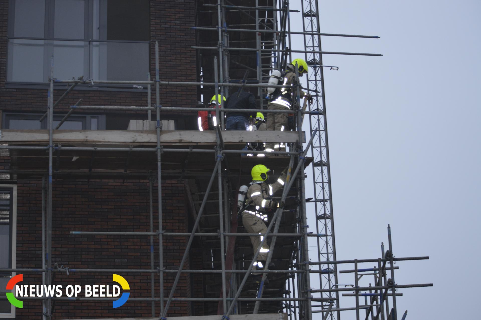 Brand in leegstaande nieuwbouw woning Jan Stuytstraat Bergschenhoek