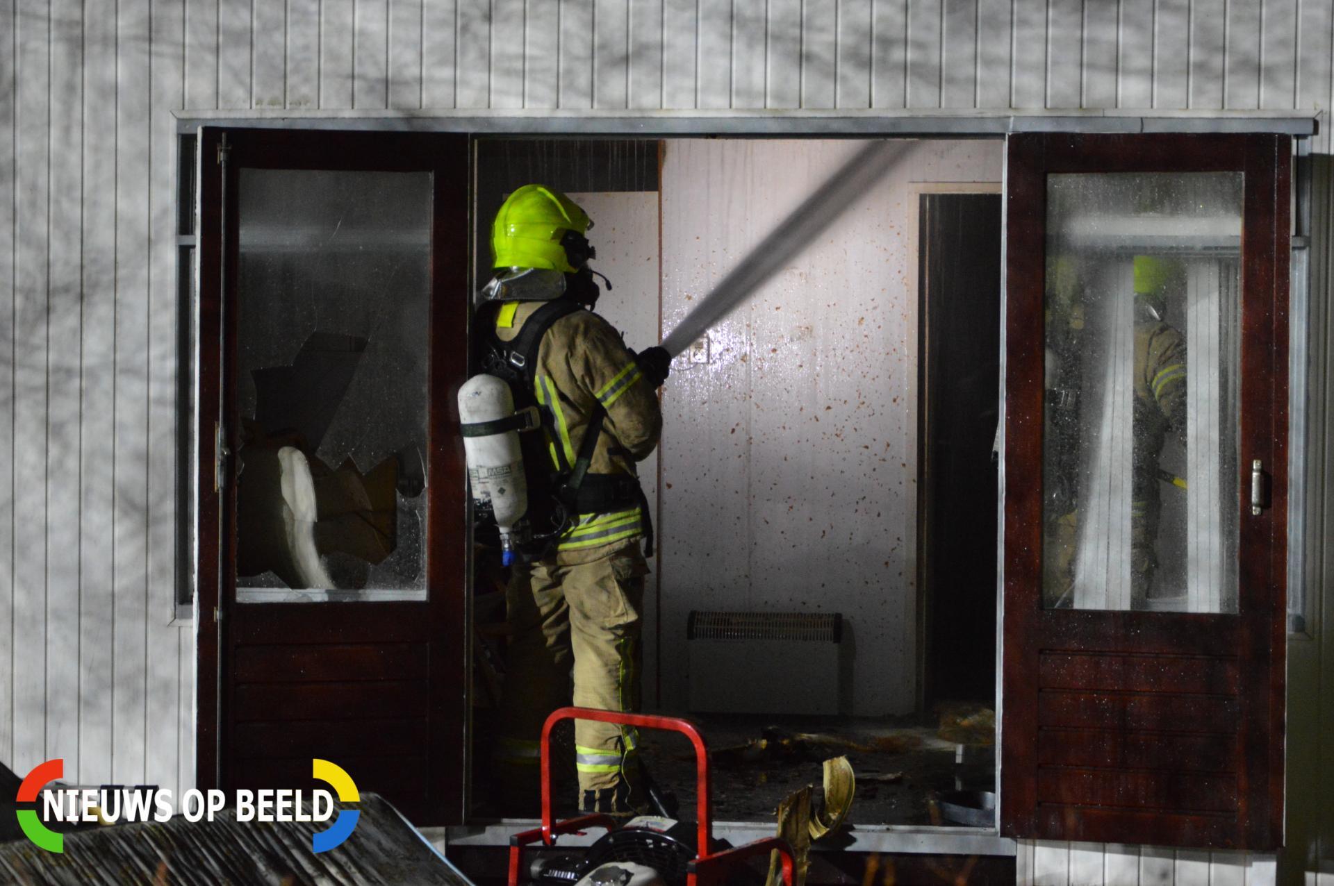 Vakantiehuisje afgebrand Gorslaan Oostvoorne