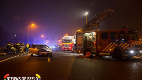 Grote ravage op de snelweg na het ongeval