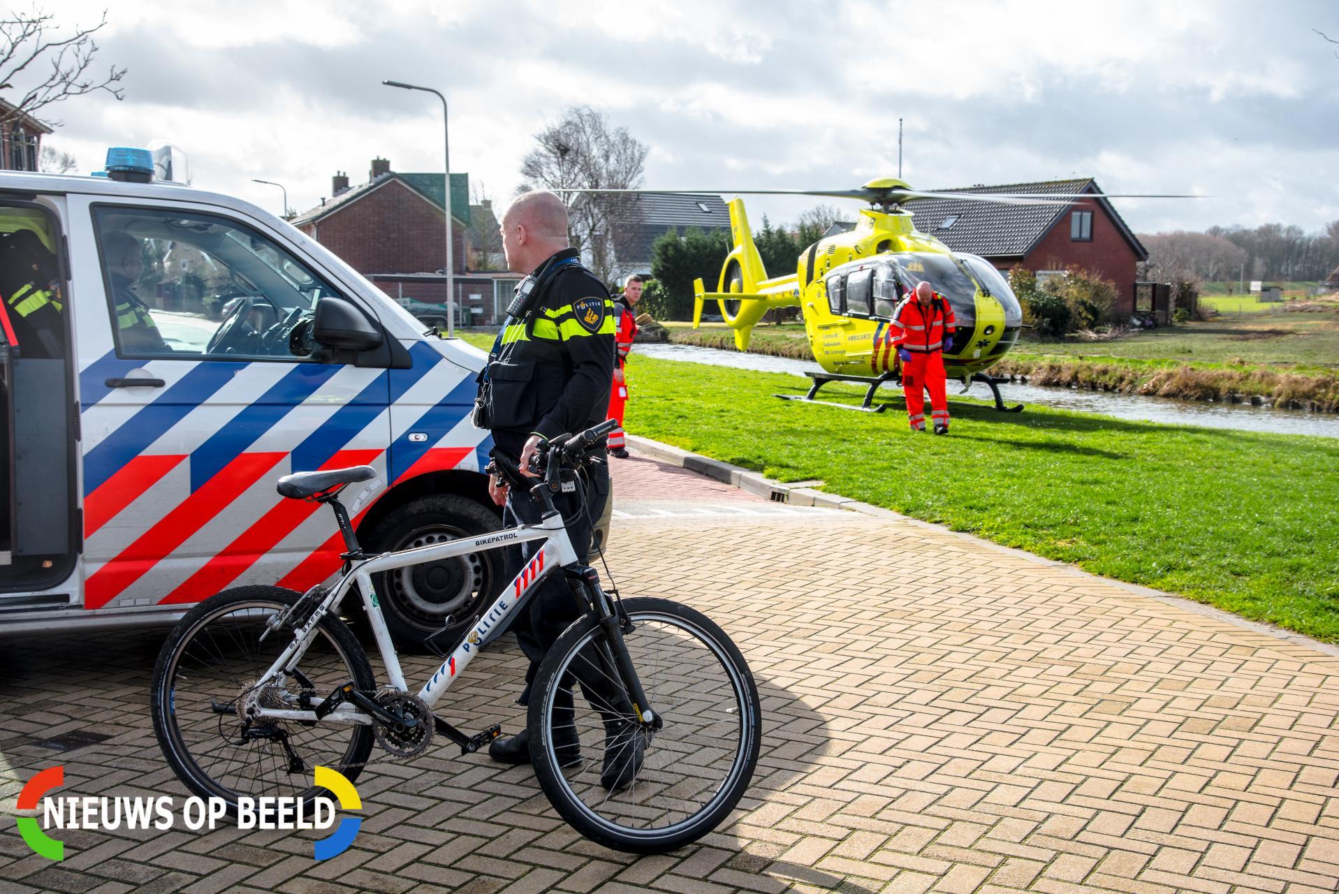 Traumahelikopter ingezet bij noodsituatie in woning Waalstraat Rhoon