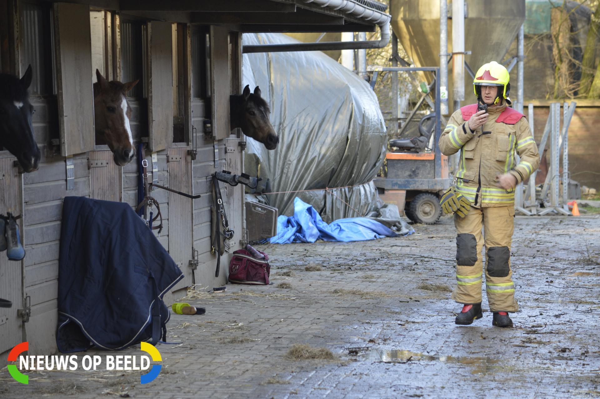 Boom valt op paardenschuur Bosweg Bergschenhoek