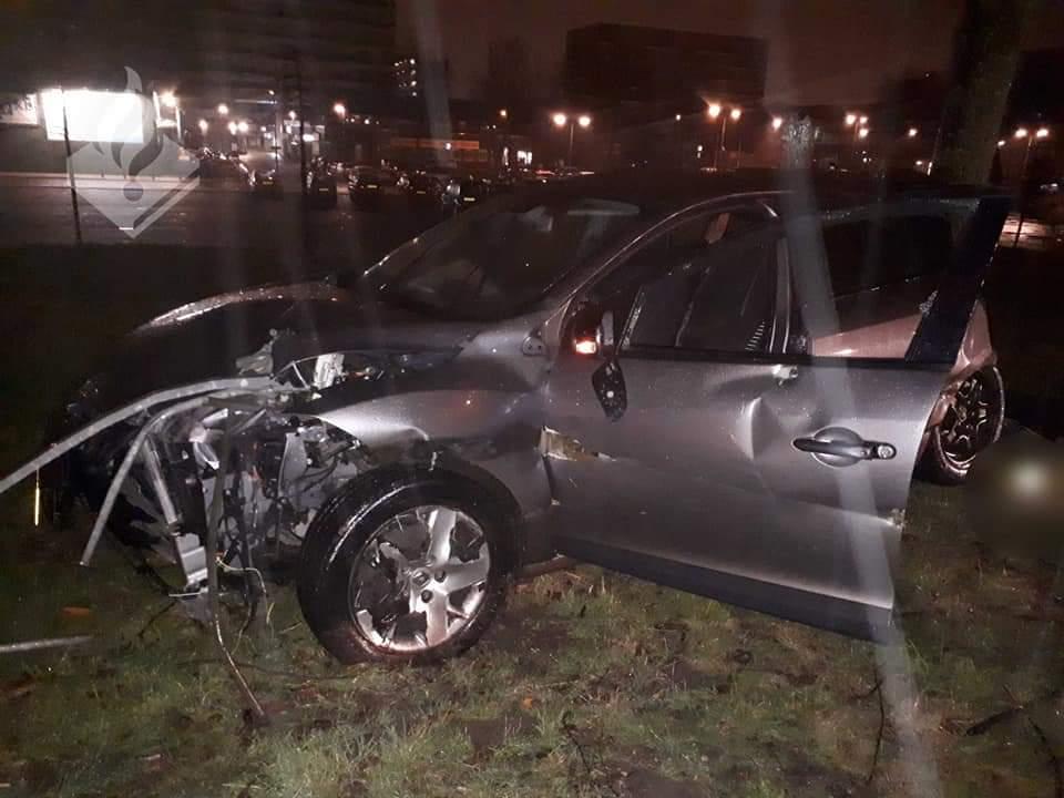 Zware crash na achtervolging Spijkenisse – Hoogvliet
