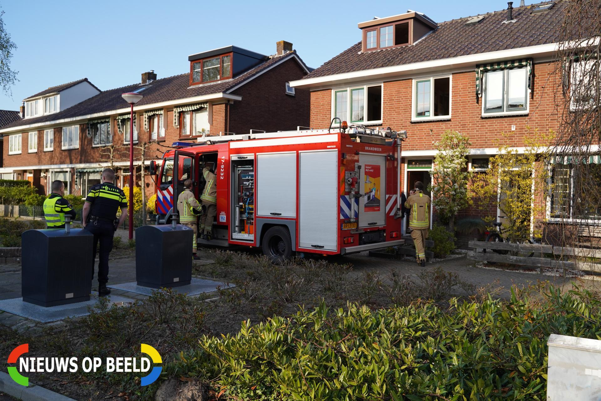 Frituurpan in brand Prins Bernhardstraat Barendrecht
