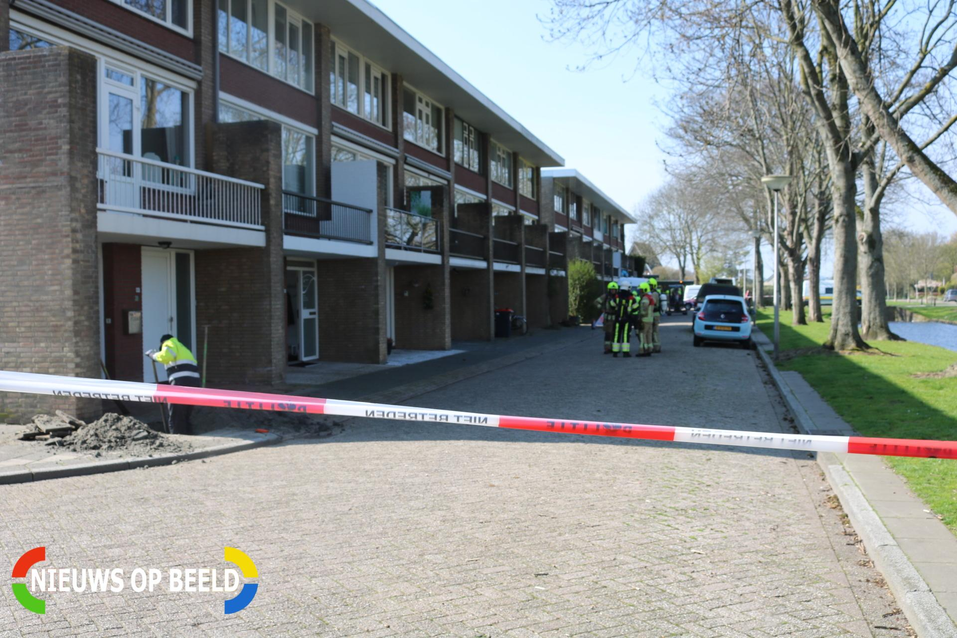 Zeven woningen ontruimd na gaslek Welleweg Brielle