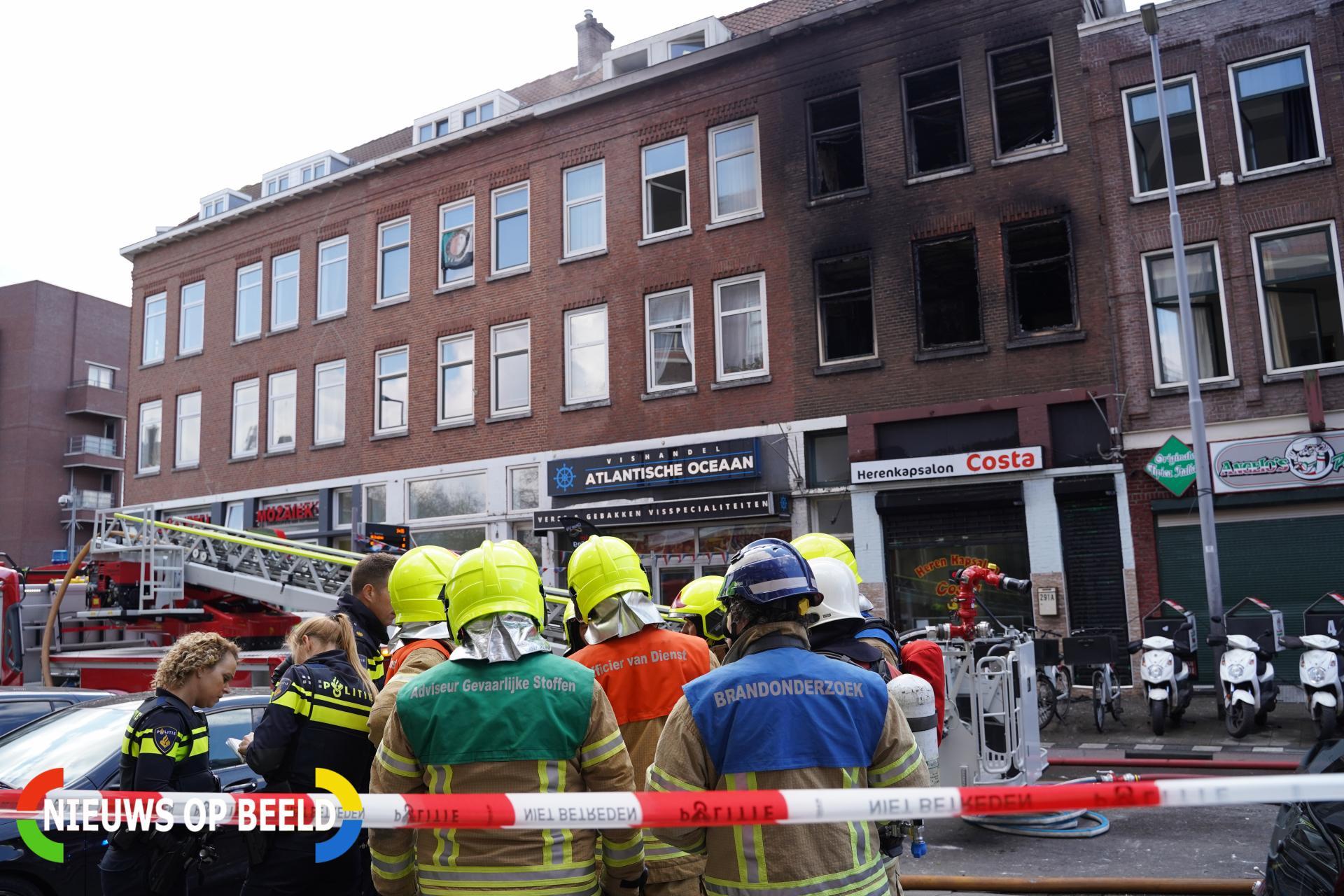 Rotterdammer aangehouden voor fatale woningbrand Hilledijk Rotterdam