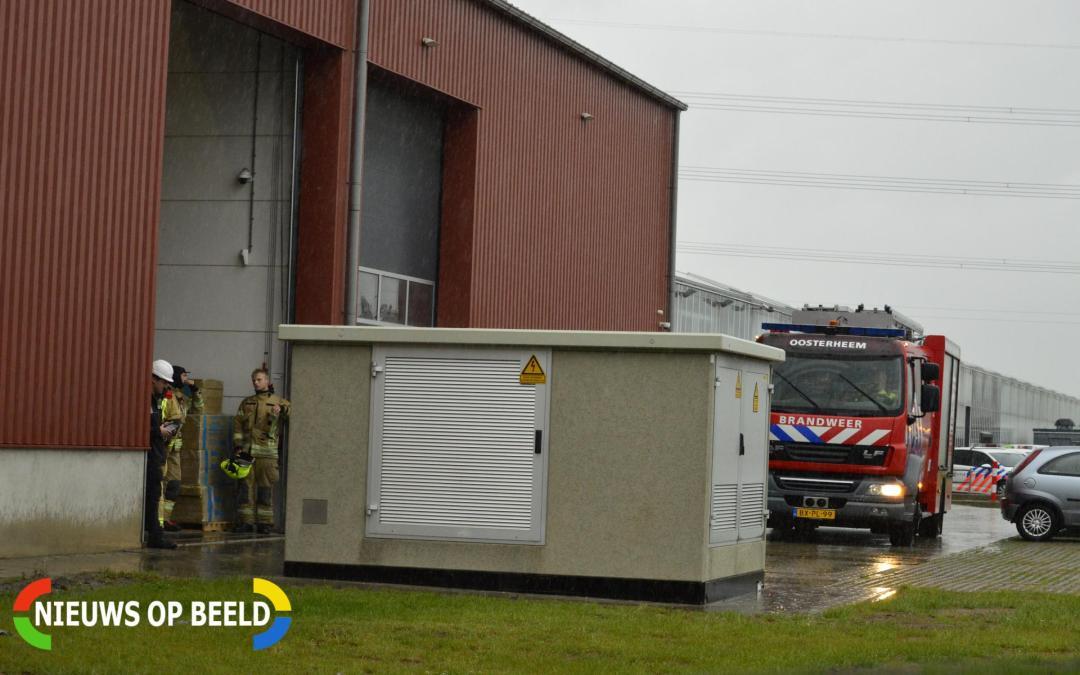 Brand in schoorsteen bedrijfspand Irisweg Bleiswijk