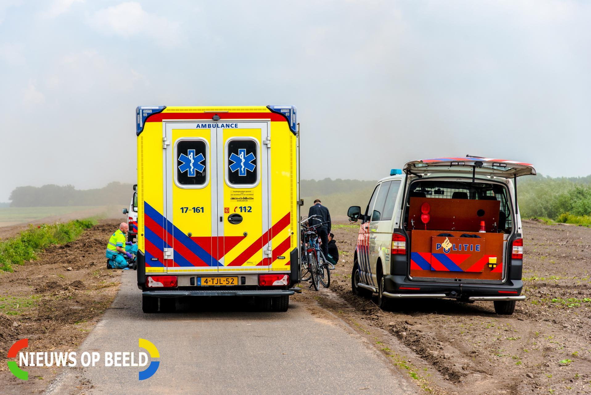 Fietser raakt zwaargewond bij eenzijdig ongeval Zegenpoldersedijk Rhoon