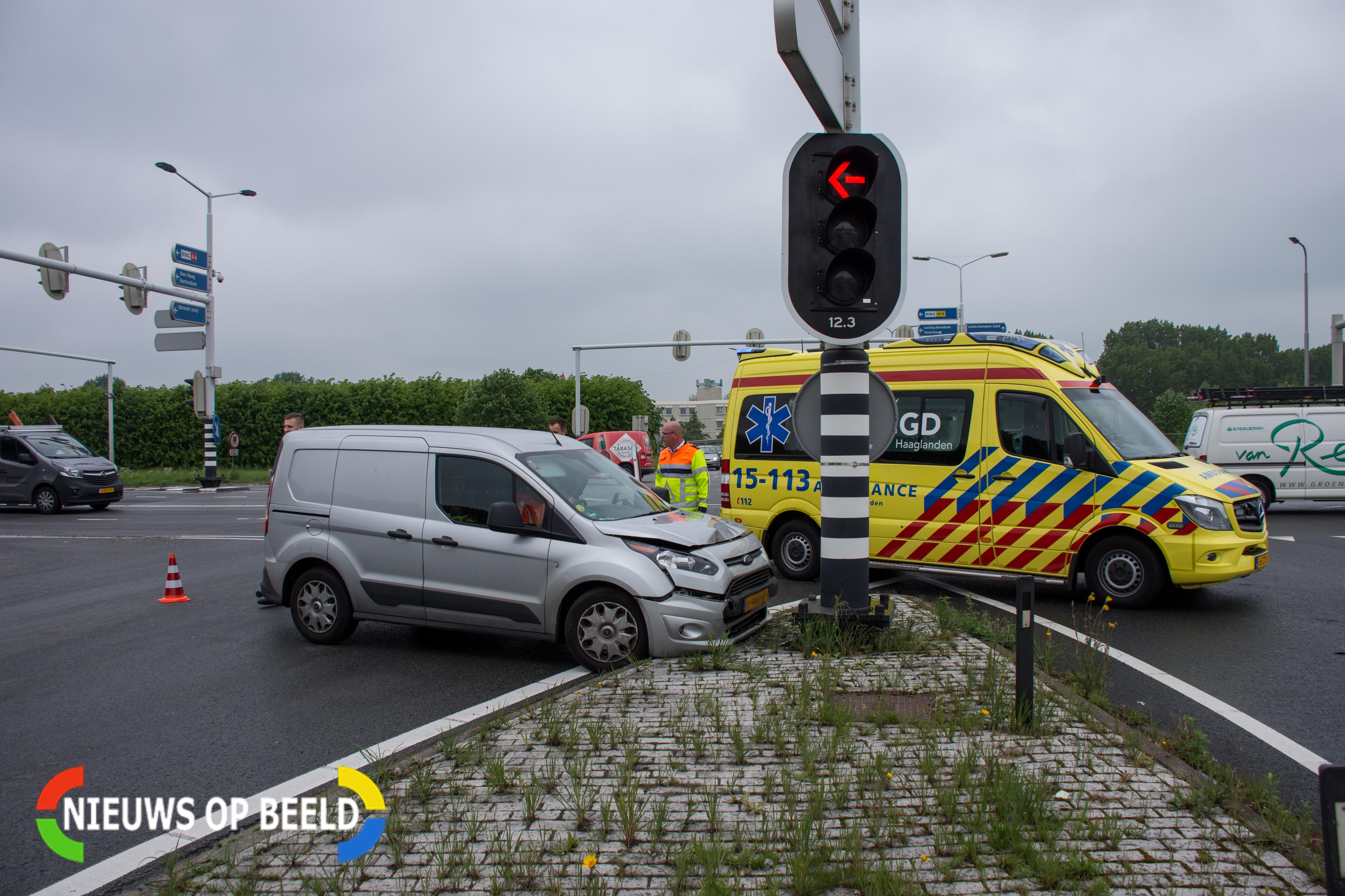 Gewonde bij eenzijdig ongeval N14