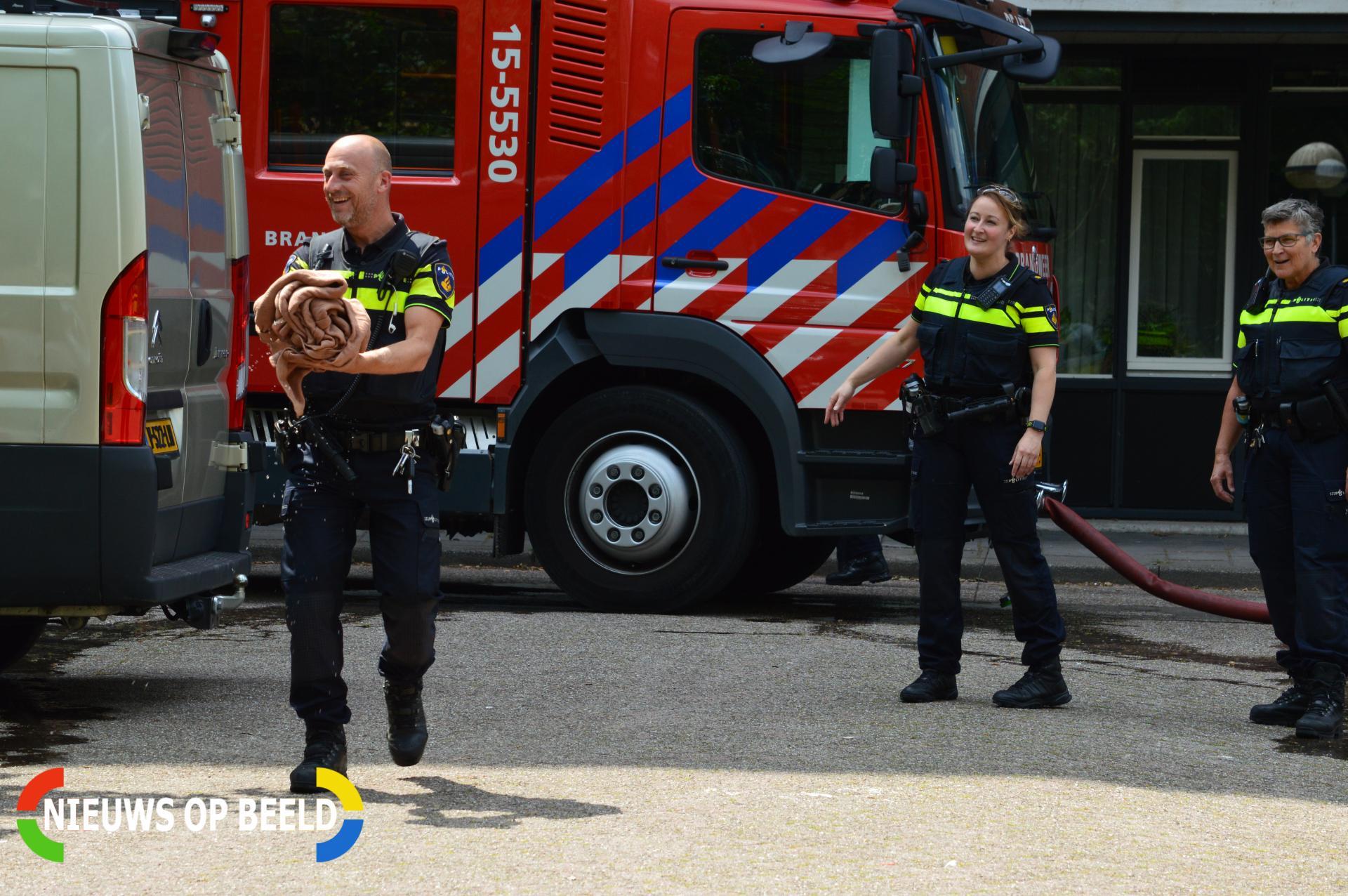 Persoon en hond gewond bij woningbrand Professor Burgershof Delft